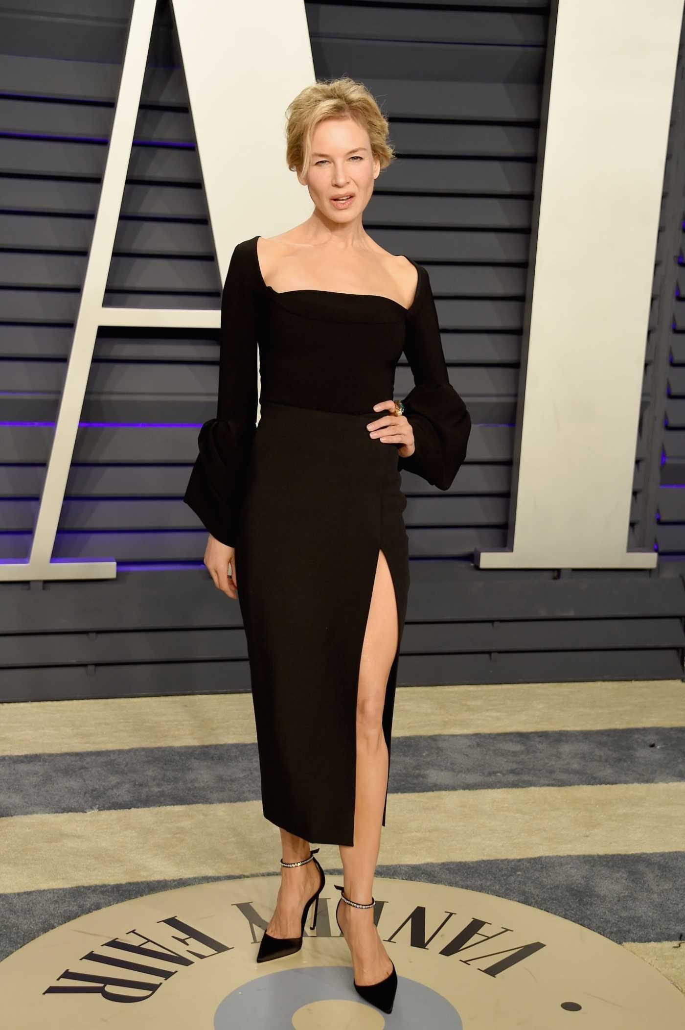 Renee Zellweger Attends 2019 Vanity Fair Oscar Party in Beverly Hills 02/24/2019