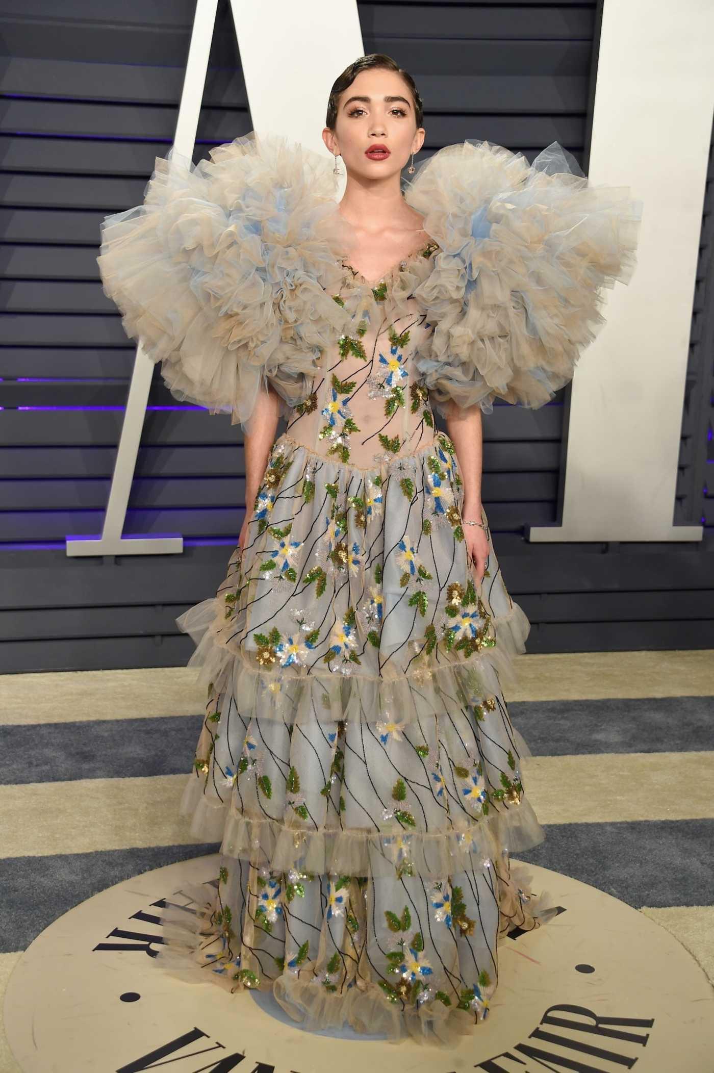 Rowan Blanchard Attends 2019 Vanity Fair Oscar Party in Beverly Hills 02/24/2019