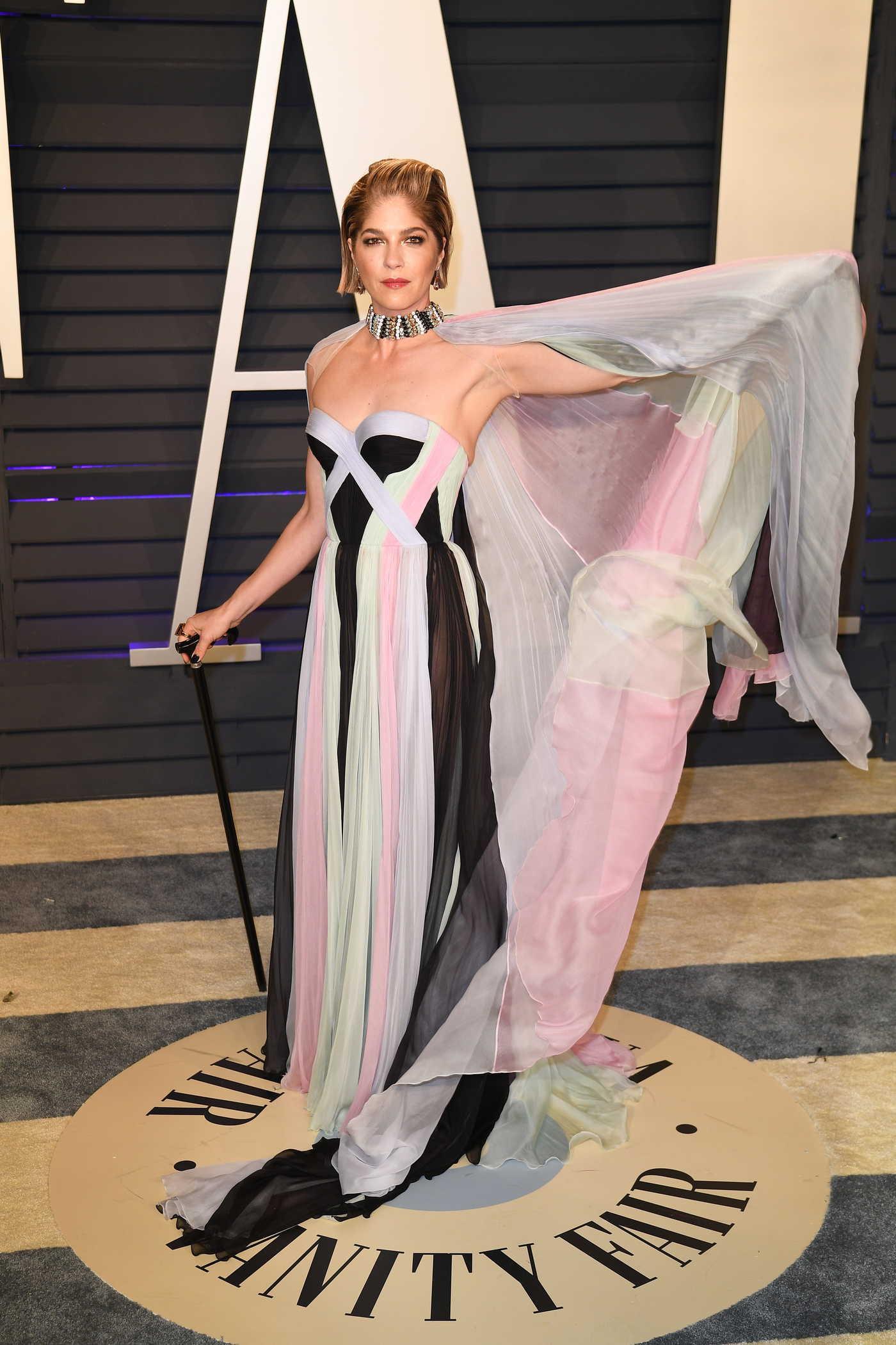 Selma Blair Attends 2019 Vanity Fair Oscar Party in Beverly Hills 02/24/2019