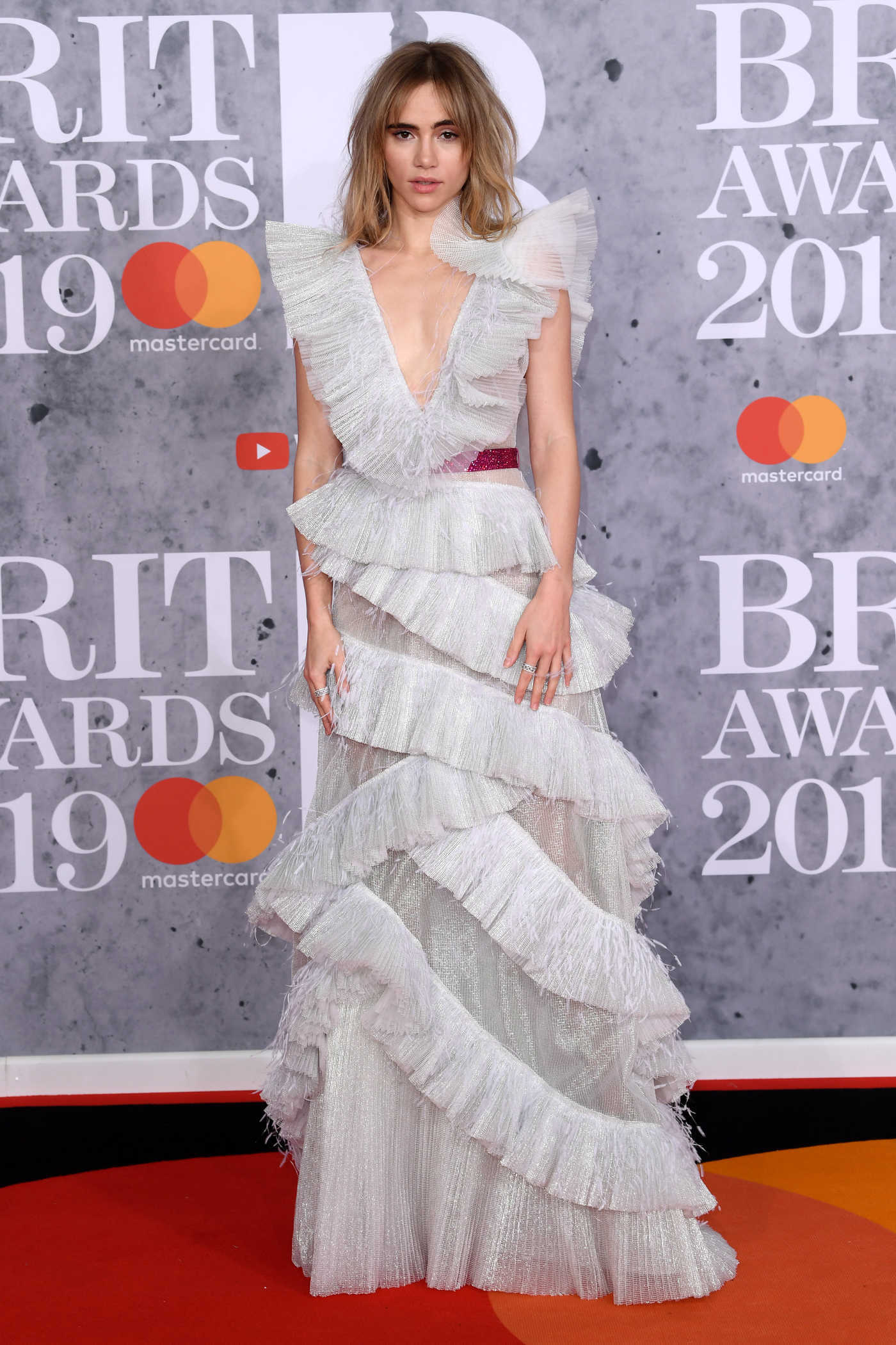 Suki Waterhouse Attends the 39th Brit Awards at the O2 Arena in London 02/20/2019
