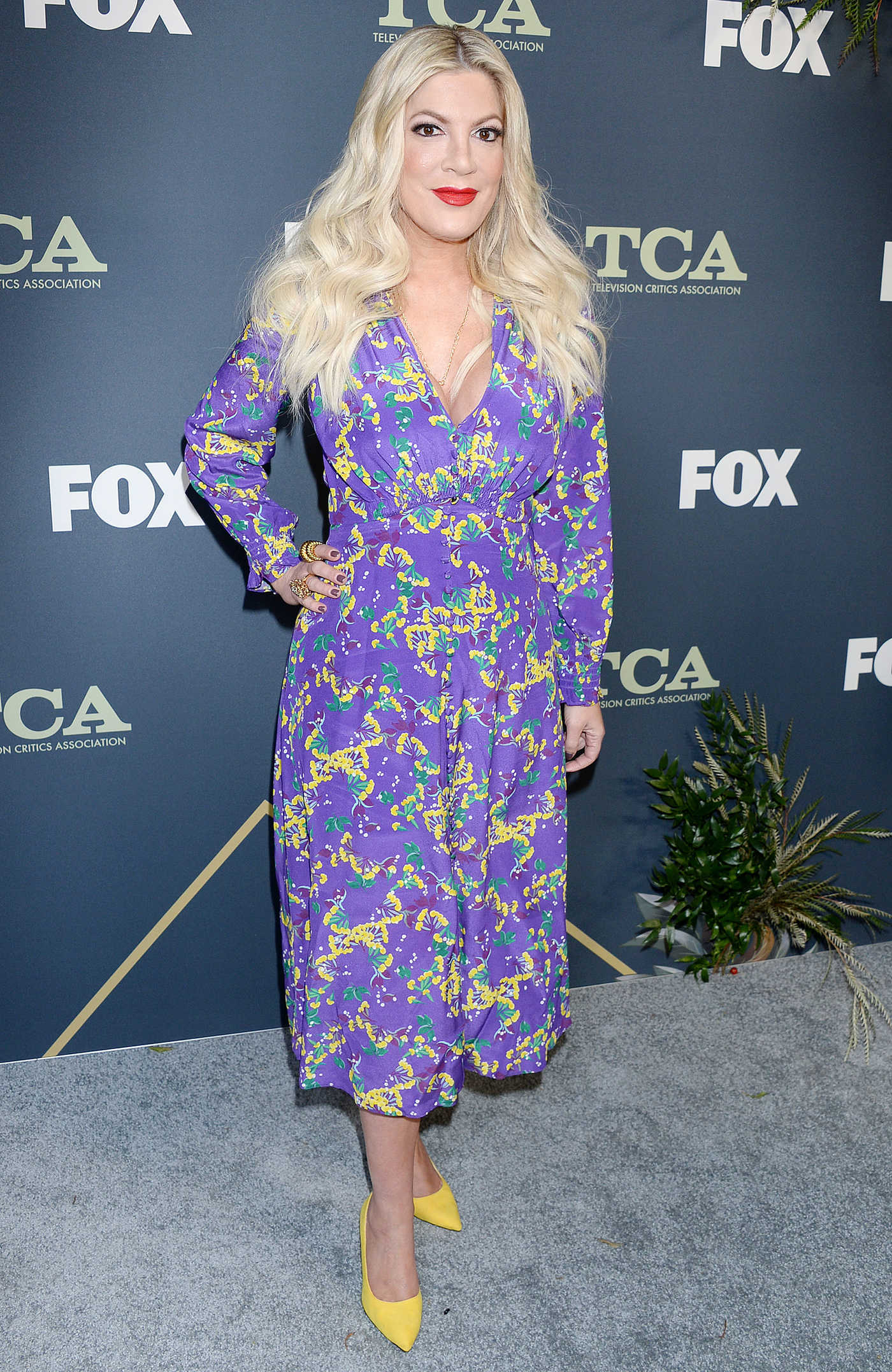 Tori Spelling Attends the Fox Winter TCA at The Fig House in Los Angeles 02/06/2019