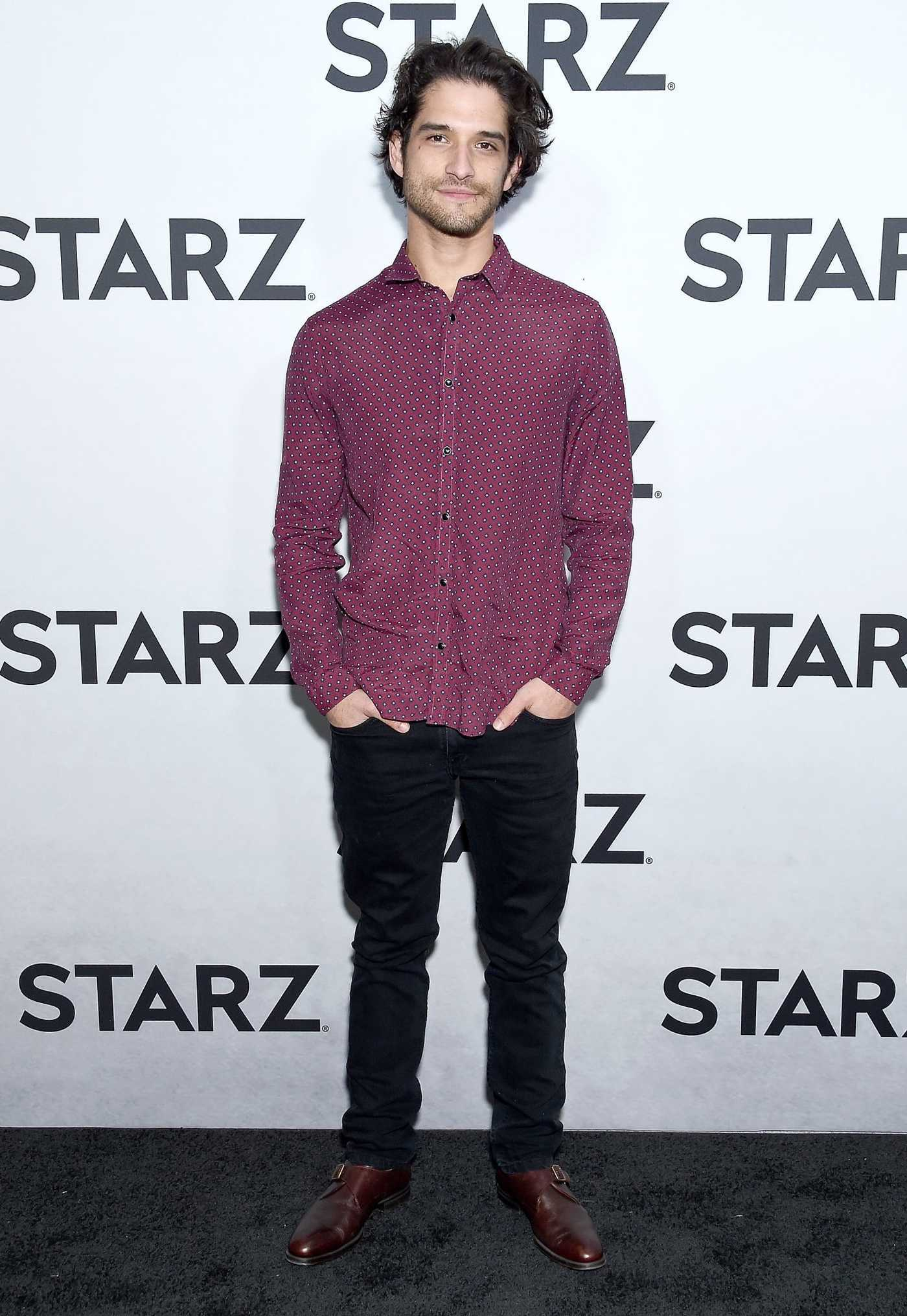 Tyler Posey Attends STARZ TCA Red Carpet Event at 71Above in LA 02/12/2019