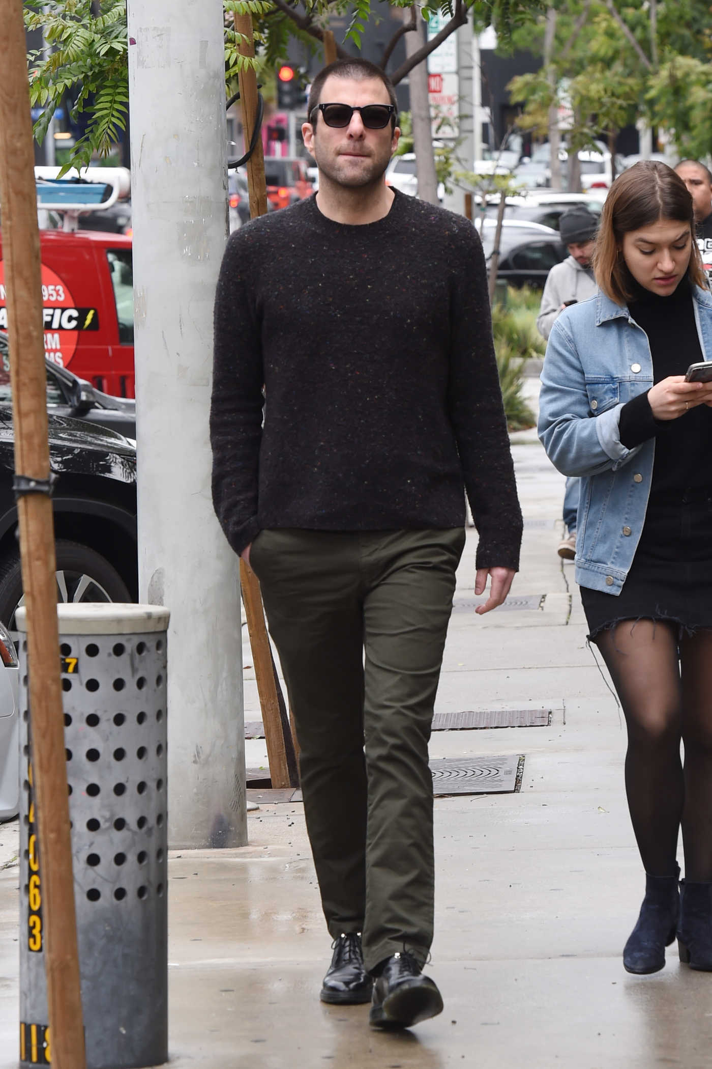 Zachary Quinto Was Seen Out in West Hollywood 02/13/2019