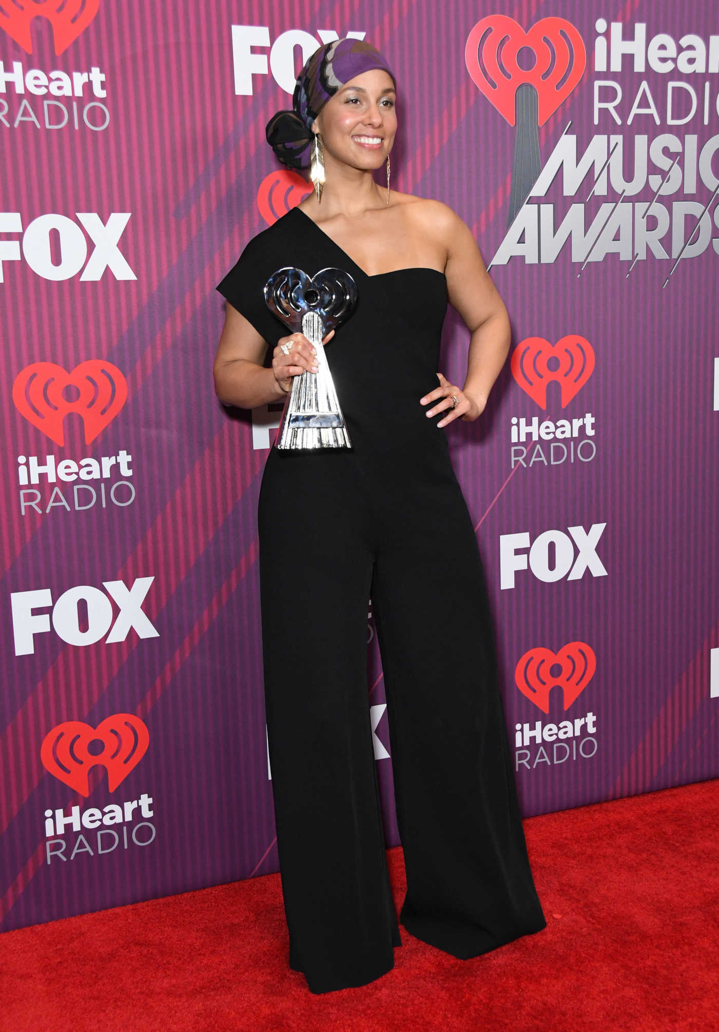 e6d25950d2 Alicia Keys Attends 2019 iHeartRadio Music Awards at Microsoft ...