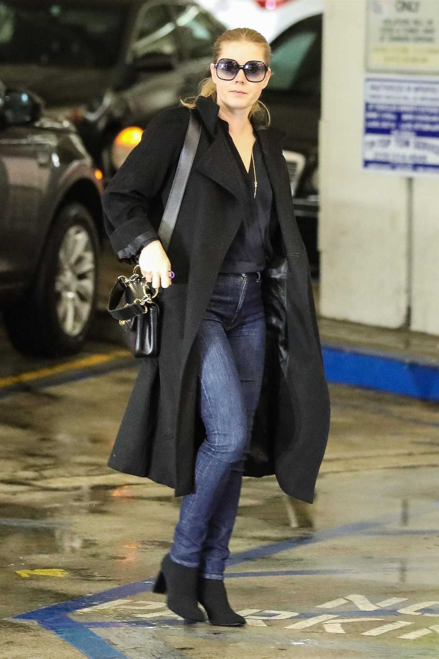Amy Adams in a Black Coat Stops by Whole Foods in Beverly Hills 03/06/2019