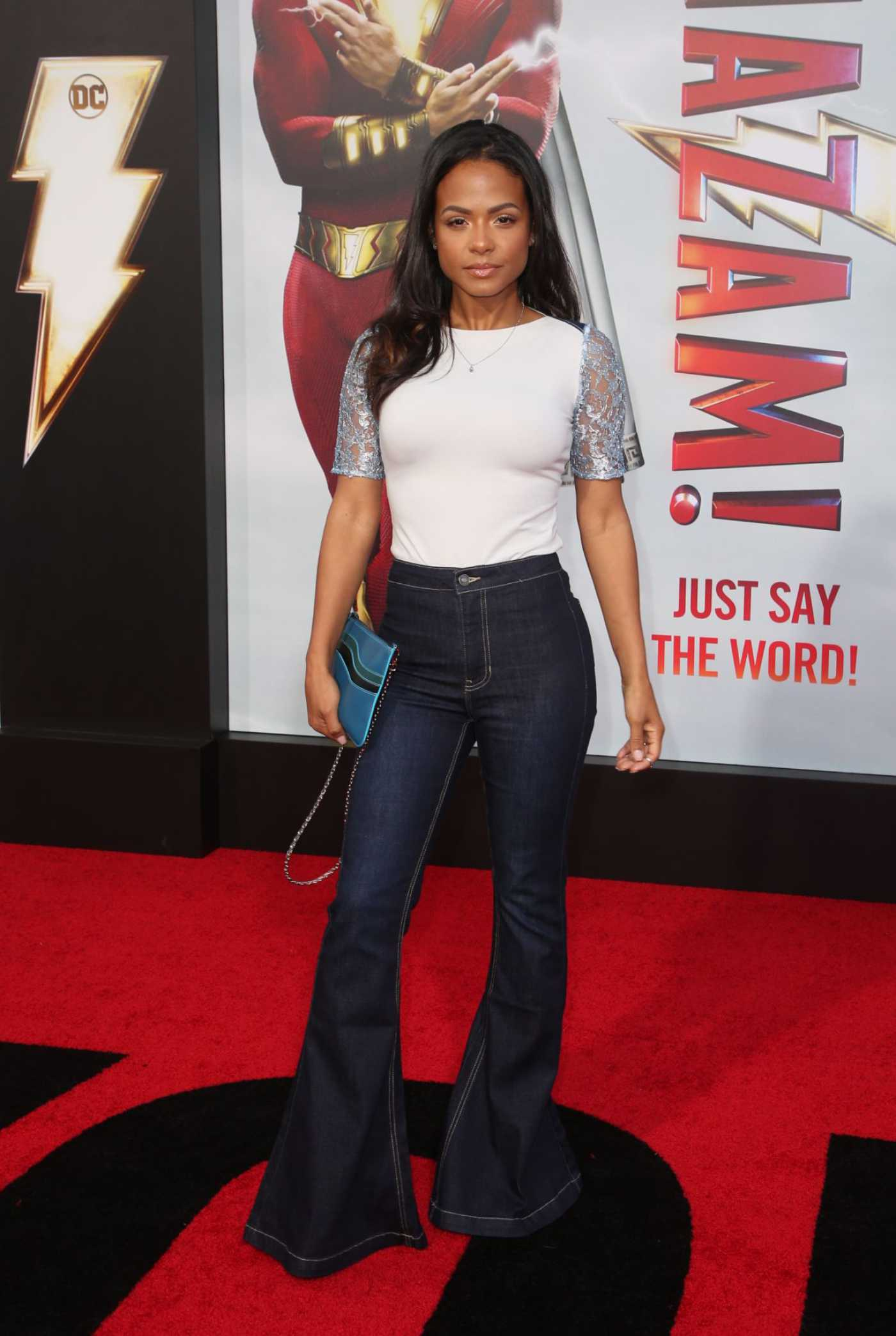 Christina Milian Attends the Shazam Premiere at TCL Chinese Thatre in Los Angeles 03/28/2019