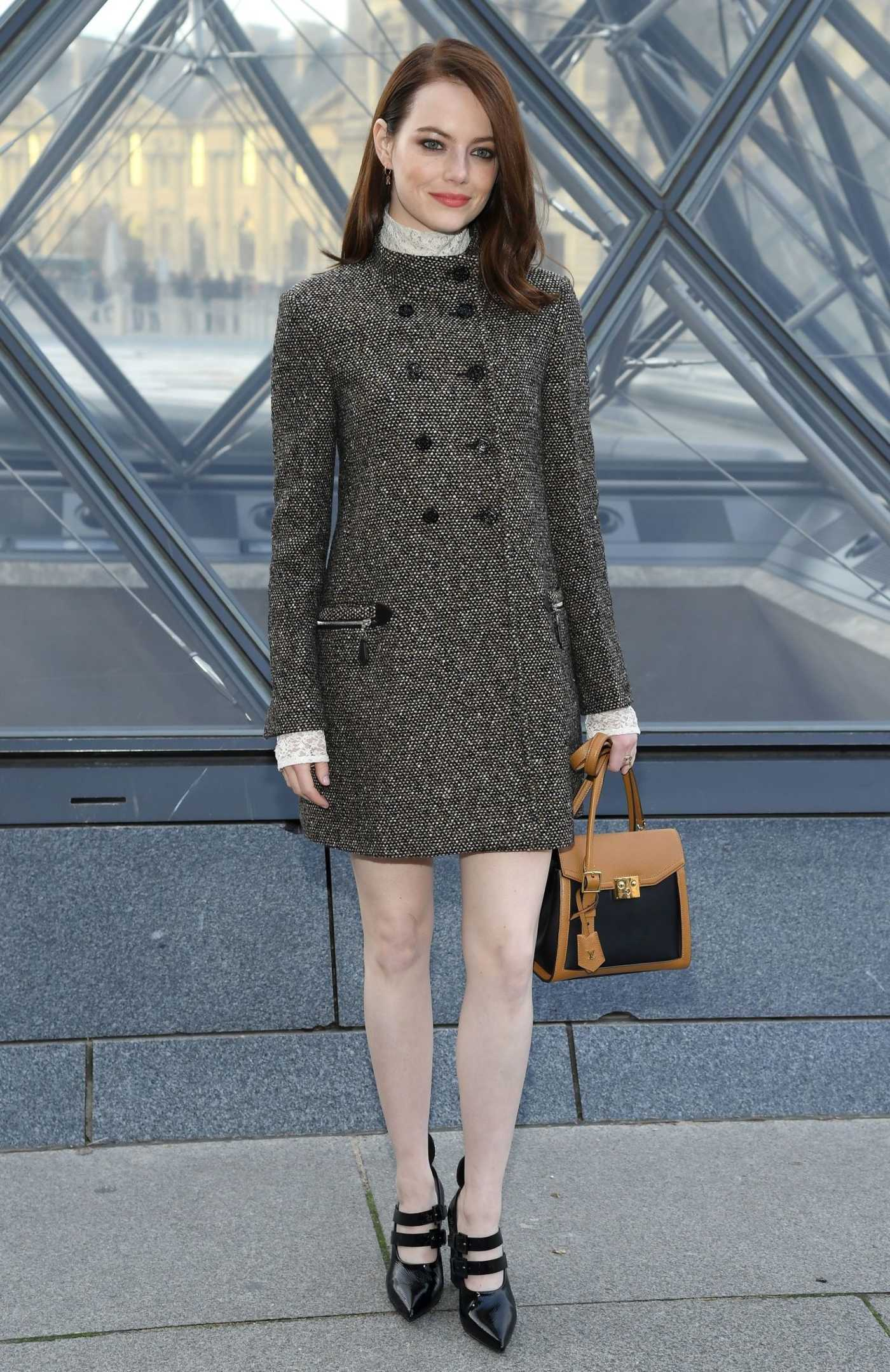 Emma Stone Attends the Louis Vuitton Fashion Show During PFW in Paris 03/05/2019