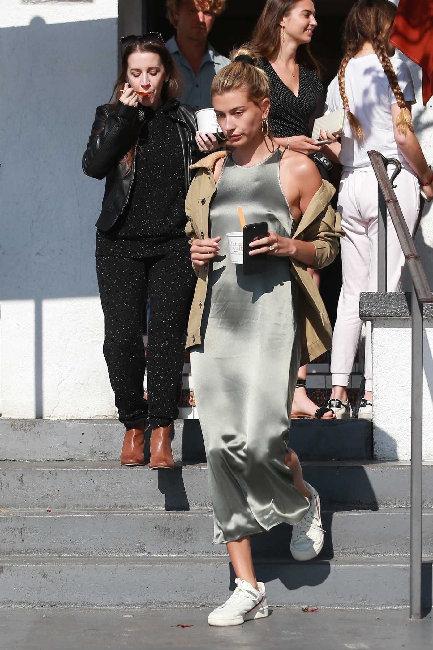 Hailey Baldwin in a Silver Dress Was Seen Out in Laguna Beach 03/24/2019