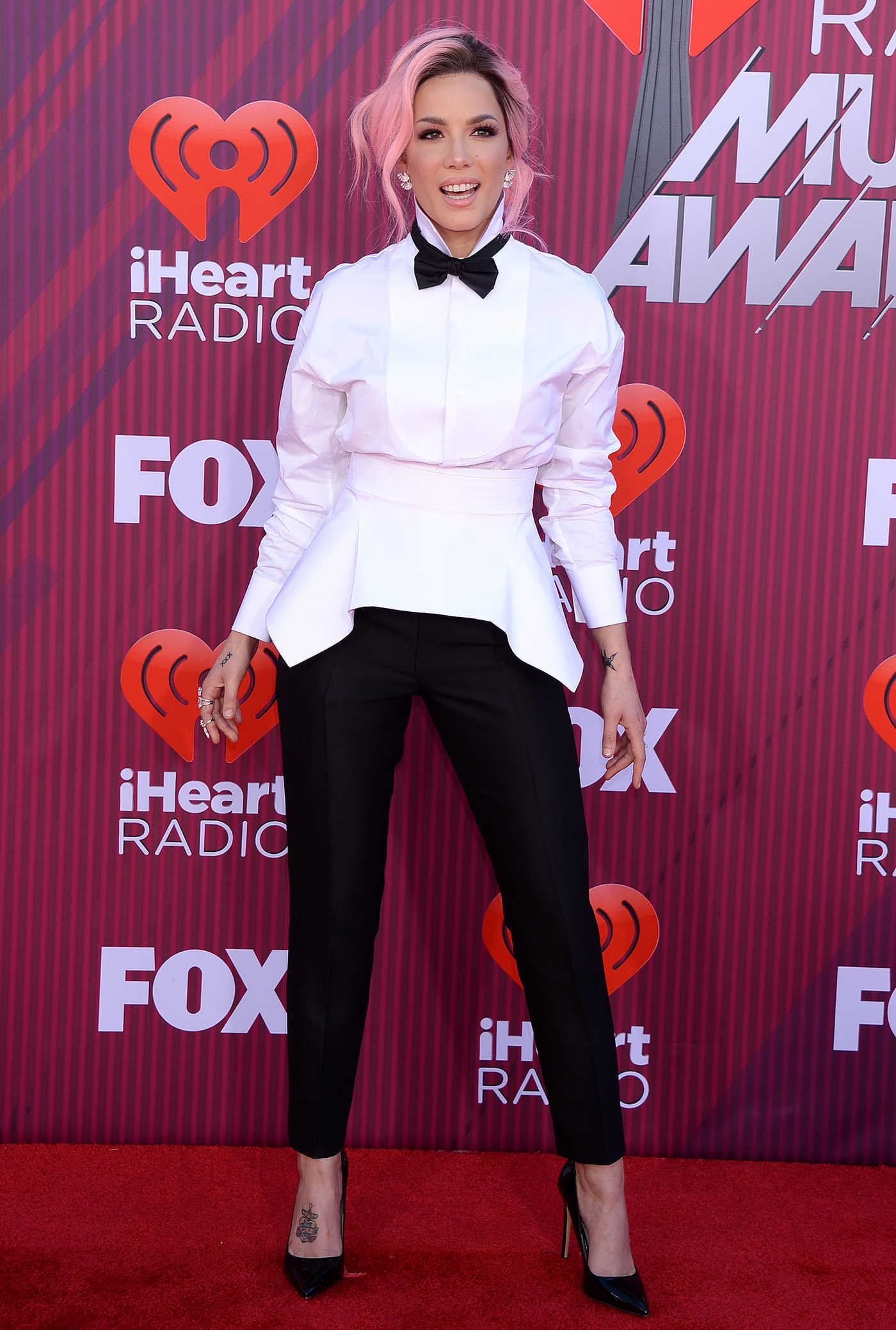 Halsey Attends 2019 iHeartRadio Music Awards at Microsoft Theater in LA 03/14/2019