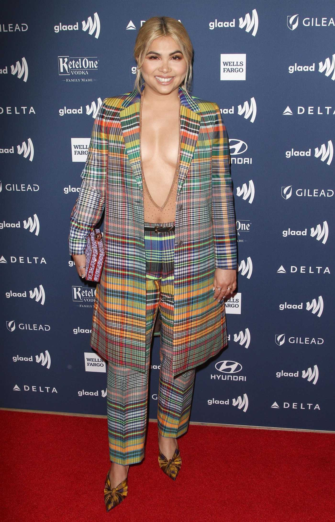 Hayley Kiyoko Attends the 30th Annual GLAAD Media Awards Los Angeles at The Beverly Hilton Hotel in Beverly Hills 03/28/2019