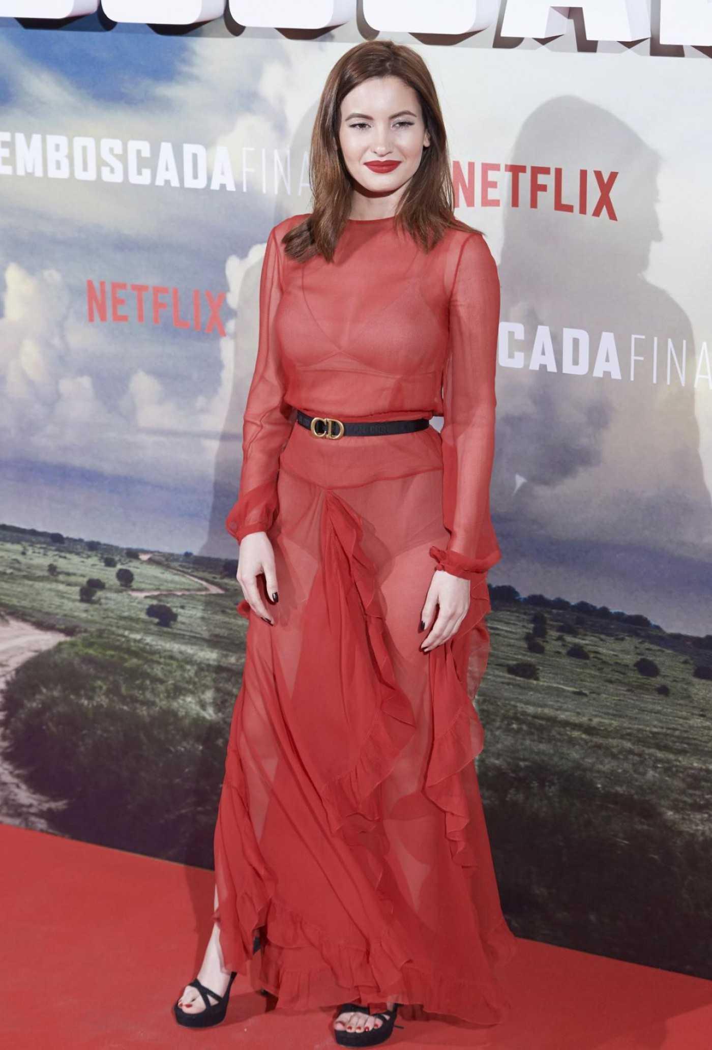 Ivana Baquero Attends The Highwaymen Premiere in Madrid 03/25/2019