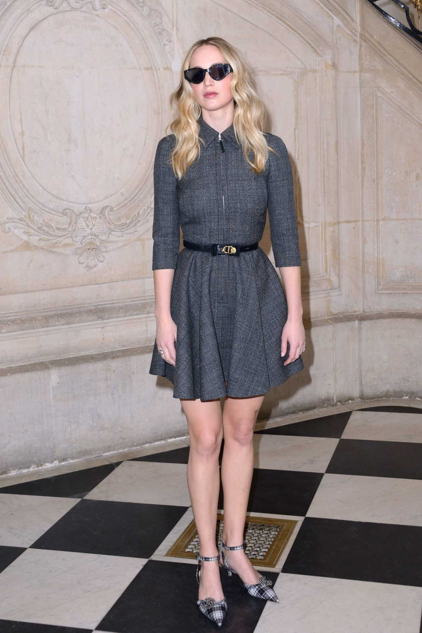 Jennifer Lawrence Attends the Christian Dior Show During Paris Fashion Week in Paris 02/26/2019