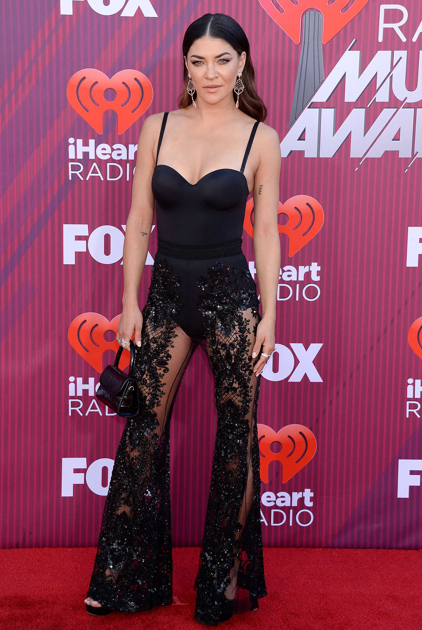 Jessica Szohr Attends 2019 iHeartRadio Music Awards at Microsoft Theater in LA 03/14/2019