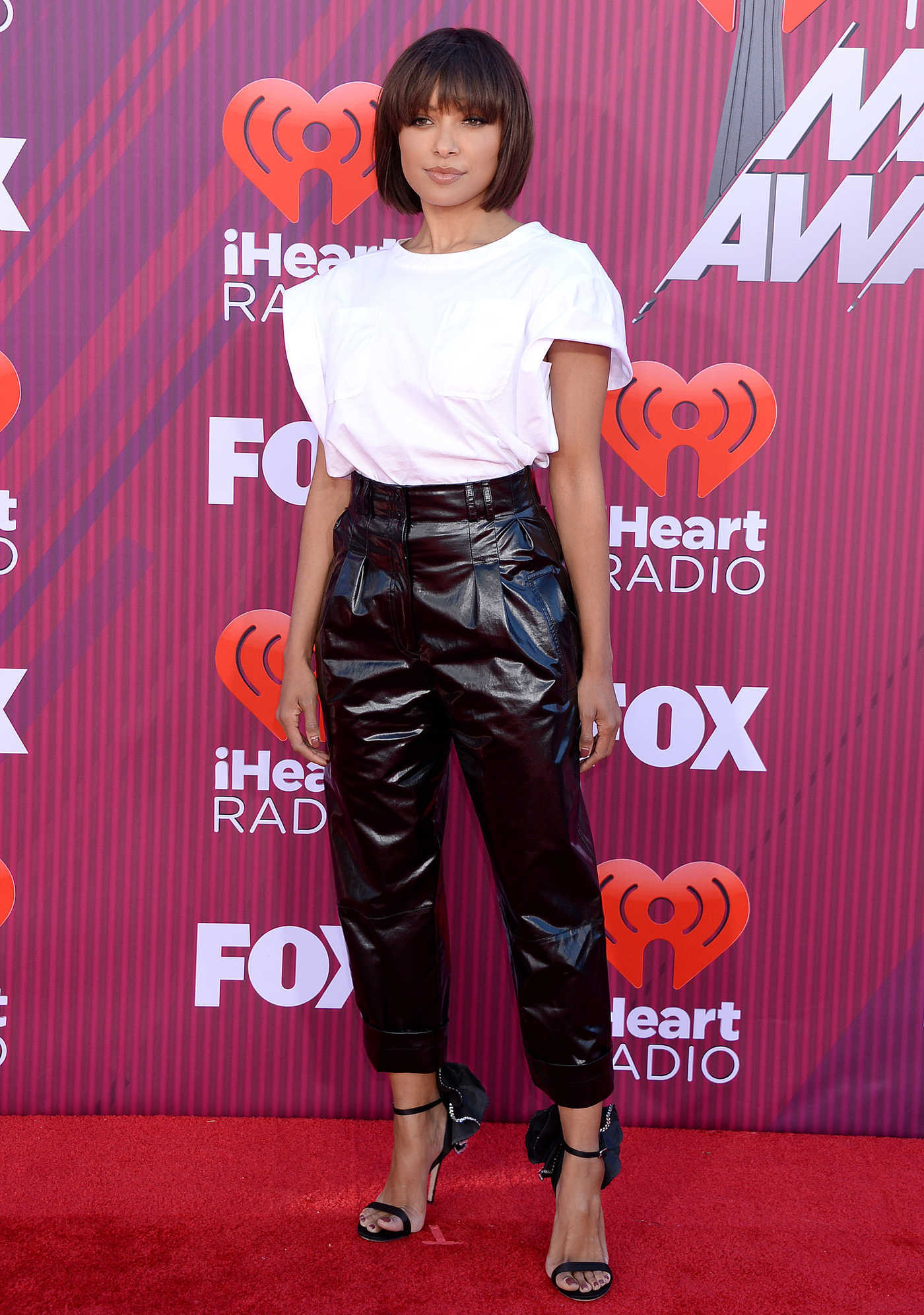 Kat Graham Attends 2019 iHeartRadio Music Awards at Microsoft Theater in LA 03/14/2019