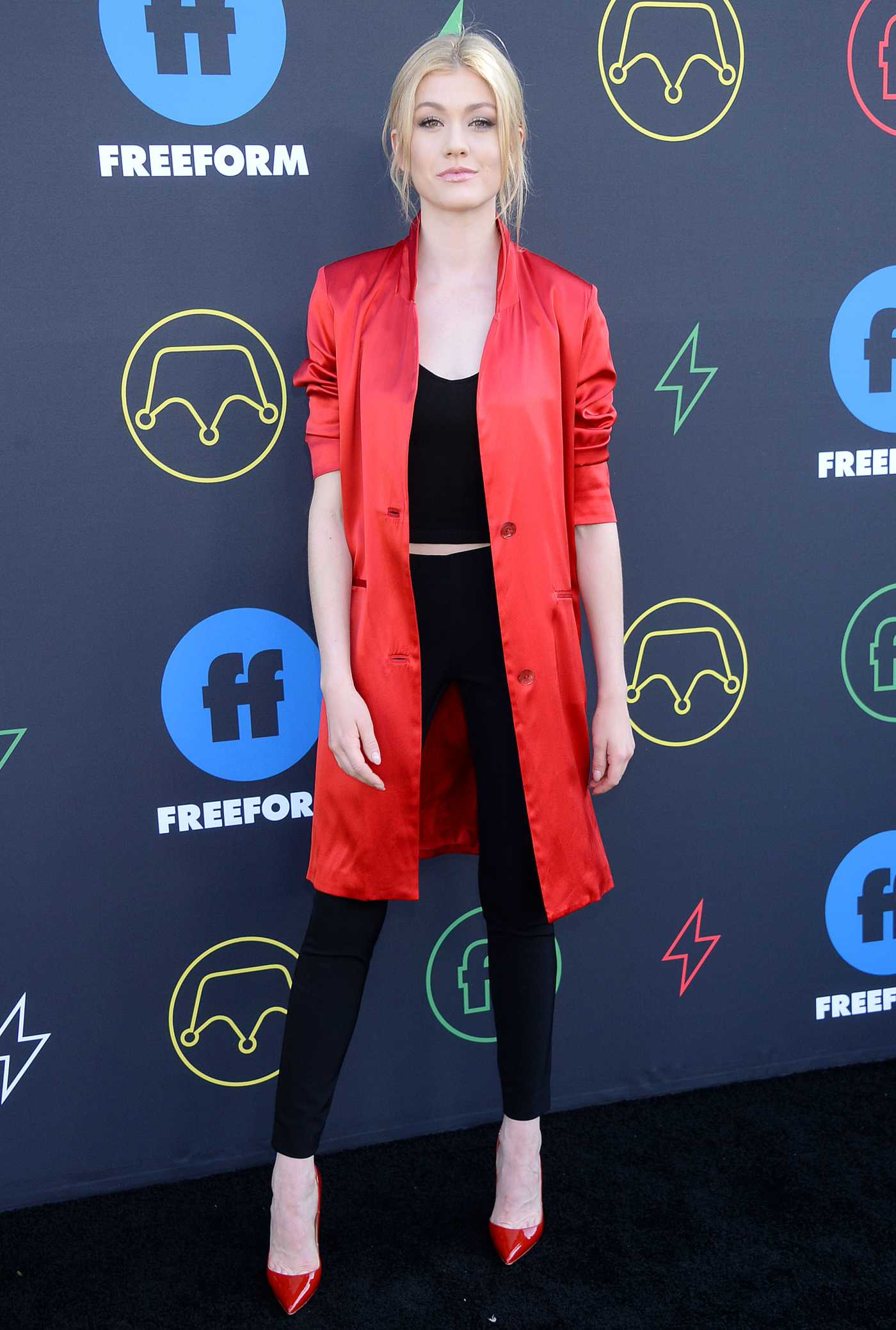 Katherine McNamara Attends 2019 Freeform Summit in LA 03/27/2019
