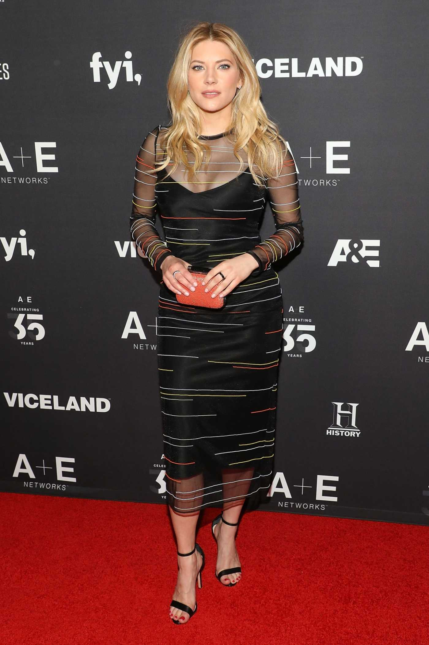Katheryn Winnick Attends 2019 A+E Upfront at Jazz at Lincoln Center in New York City 03/27/2019