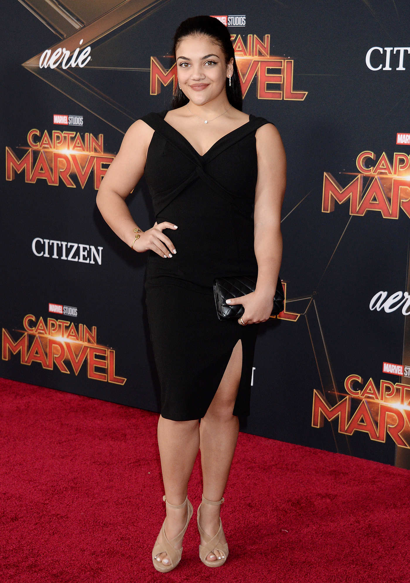 Laurie Hernandez Attends the Captain Marvel Premiere at the El Capitan Theatre in Los Angeles 03/04/2019