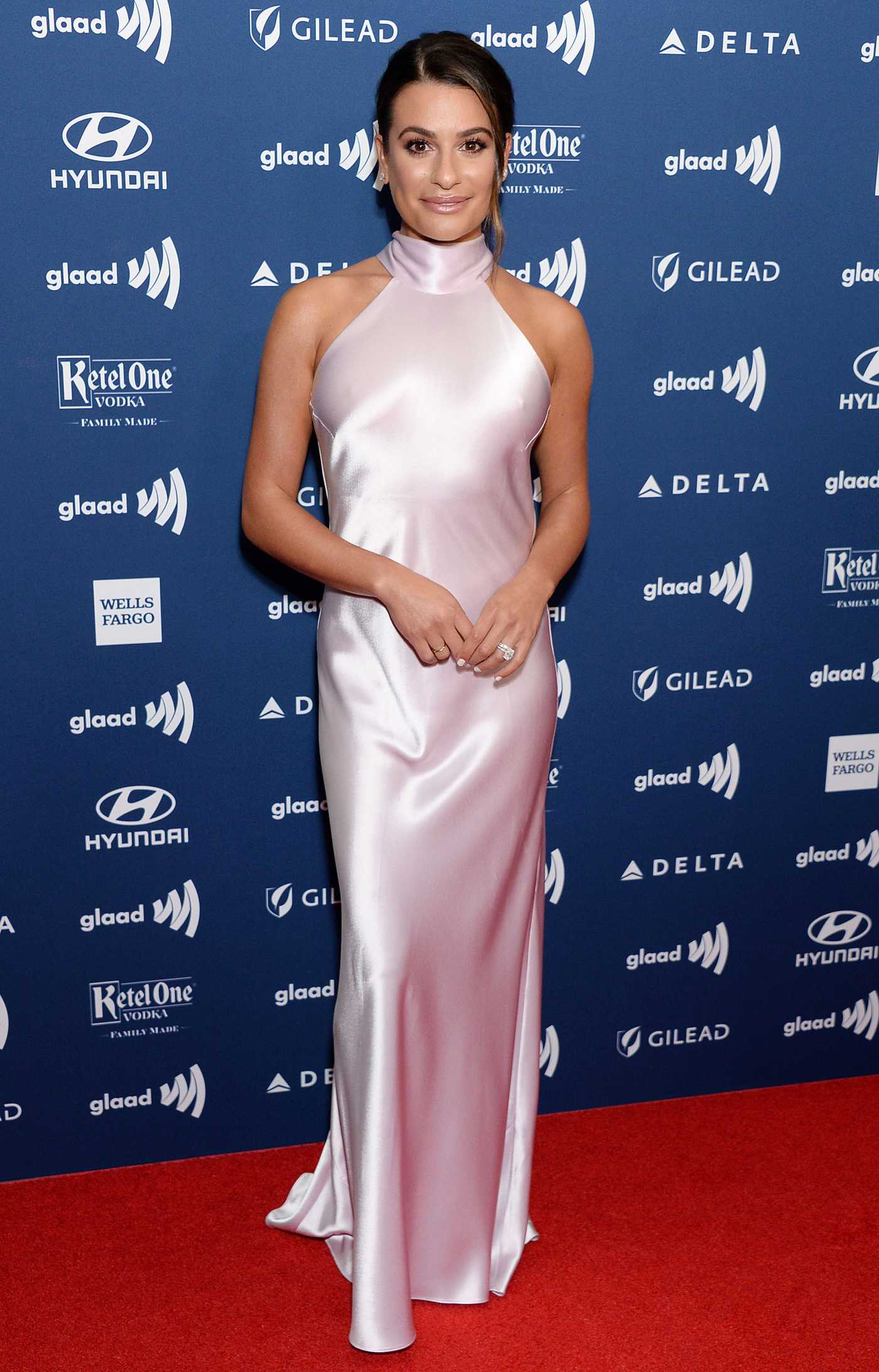 Lea Michele Attends the 30th Annual GLAAD Media Awards Los Angeles at The Beverly Hilton Hotel in Beverly Hills 03/28/2019