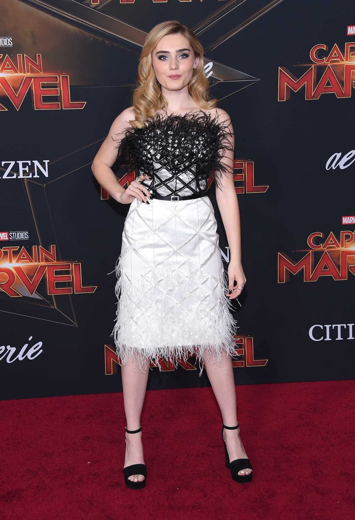 Meg Donnelly Attends the Captain Marvel Premiere at the El Capitan Theatre in Los Angeles 03/04/2019