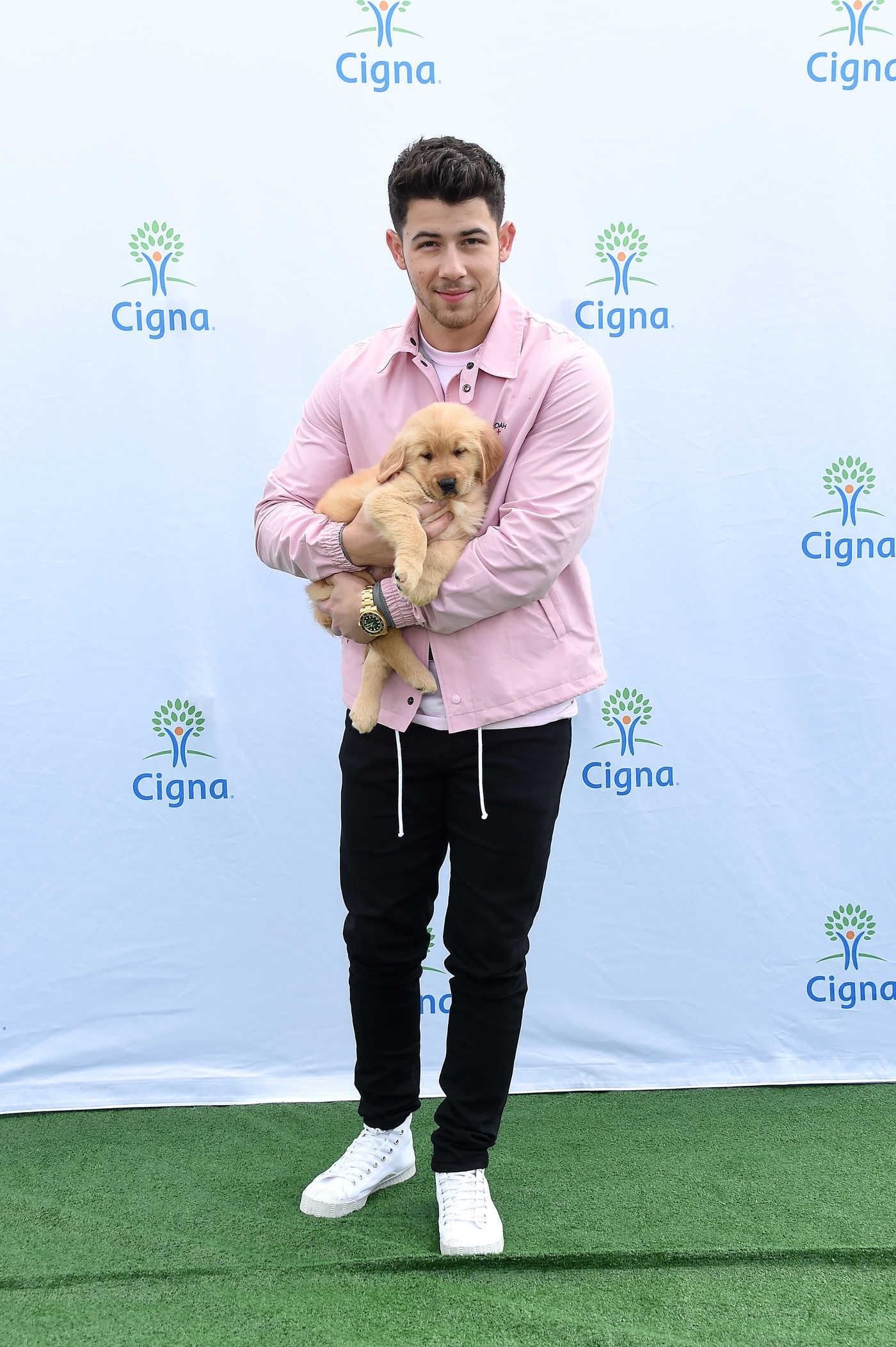 Nick Jonas Attends the Cigna's Health Improvement Tour at Evolve in Los Angeles 03/07/2019