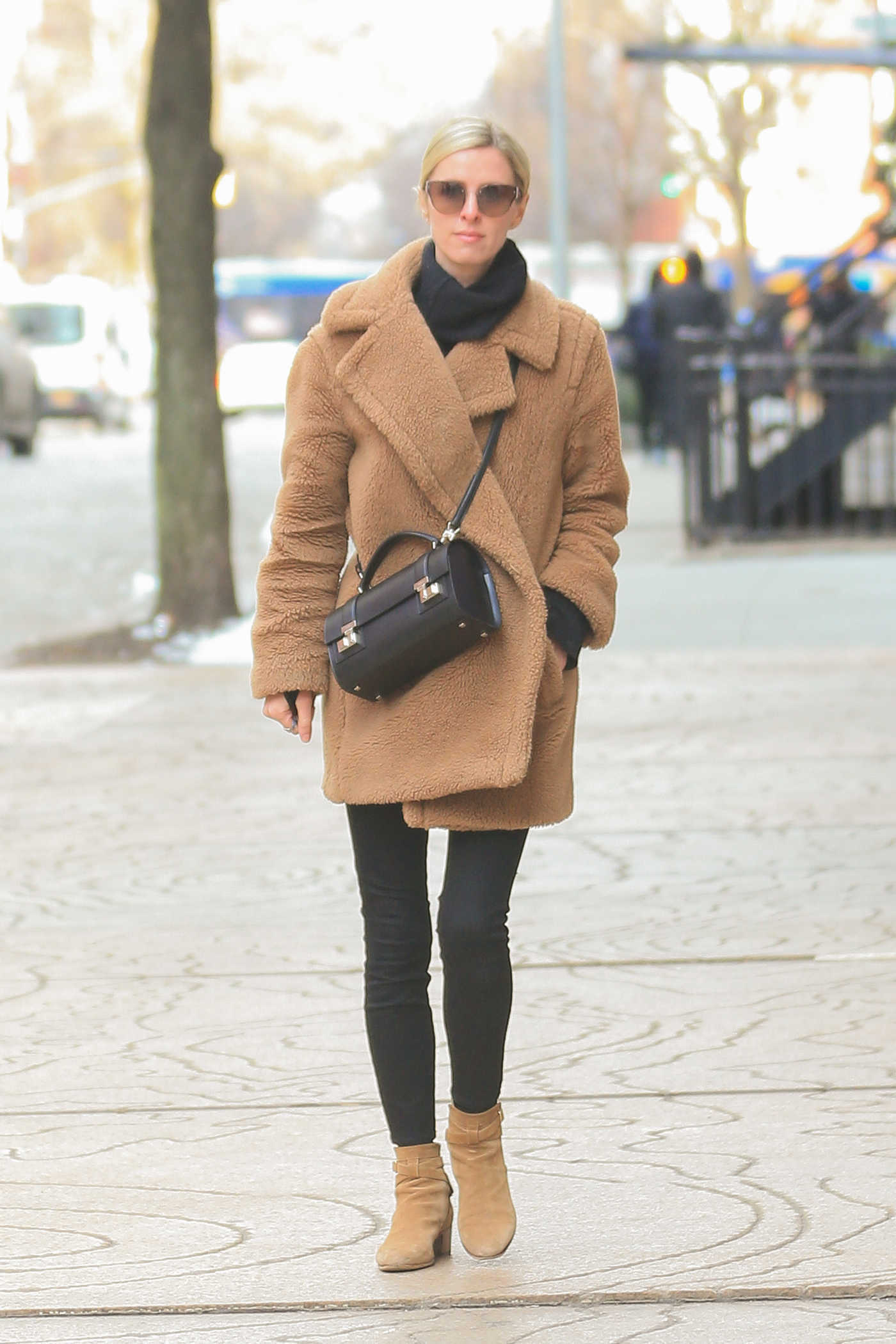 Nicky Hilton in a Beige Fur Coat Was Seen Out in New York 03/07/2019