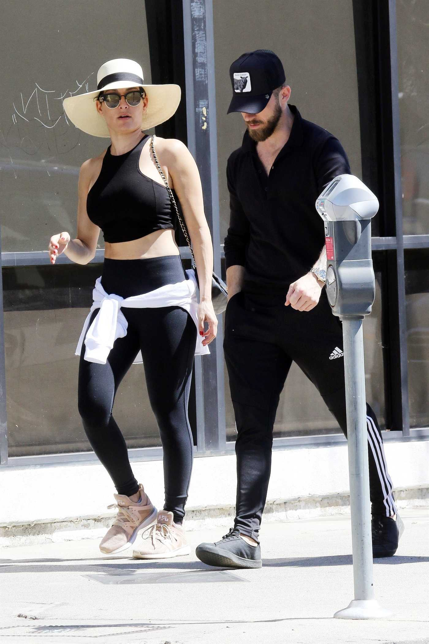 Nikki Bella in a Straw Hat Out for Lunch at Joan's on Third in LA 03/16/2019