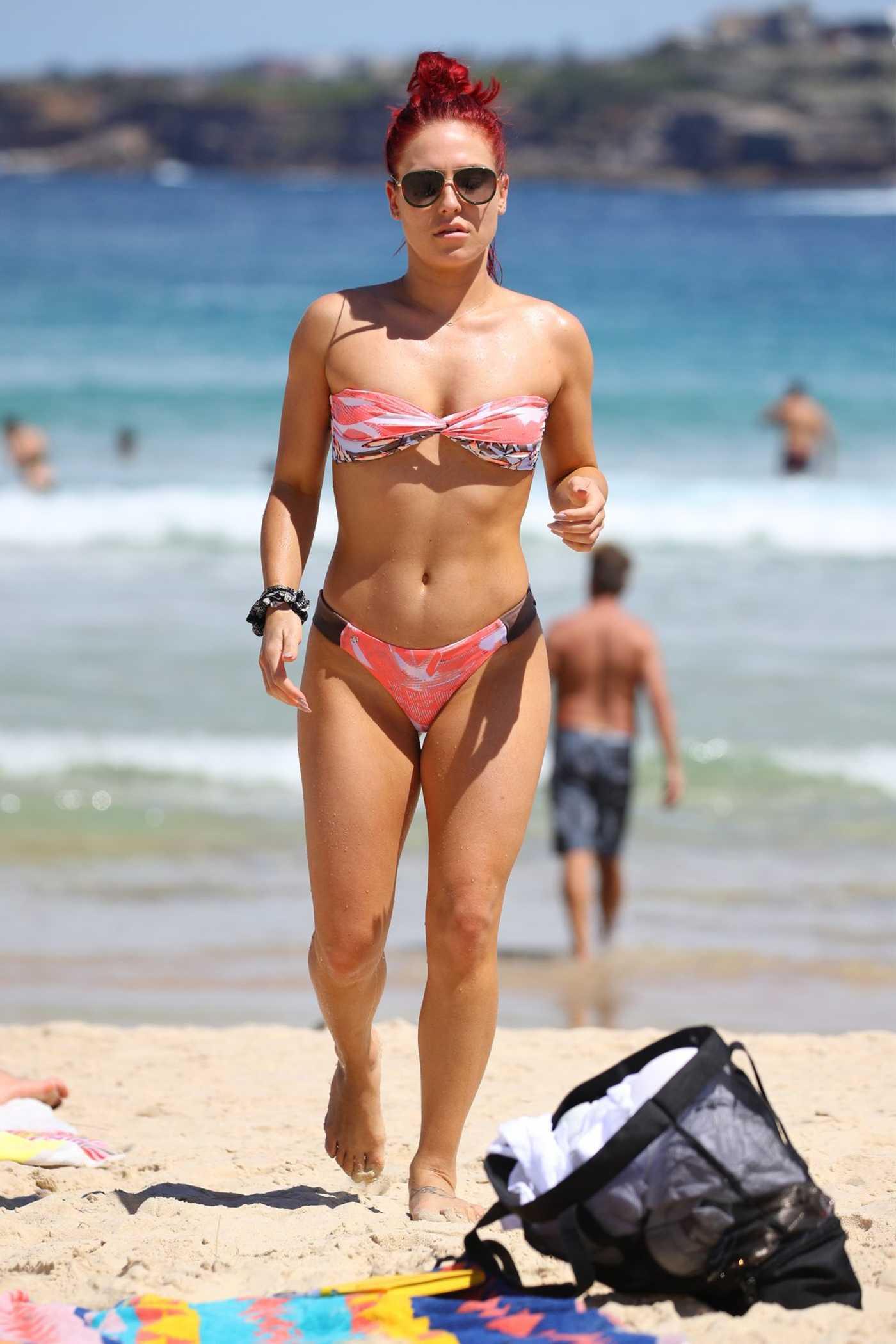 Sharna Burgess in Bikini on Bondi Beach in Sydney 03/01/2019