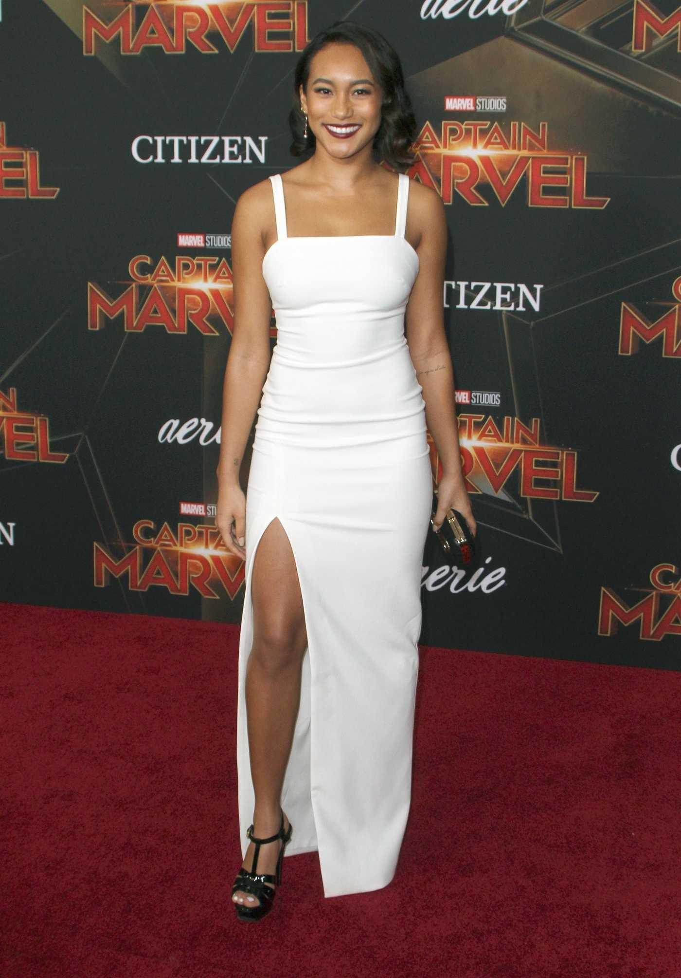 Sydney Park Attends the Captain Marvel Premiere at the El Capitan Theatre in Los Angeles 03/04/2019