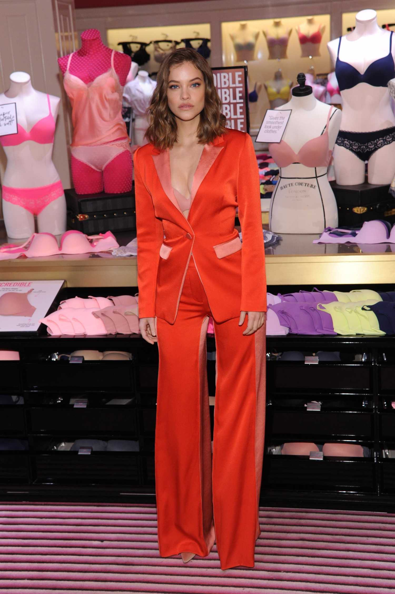 Barbara Palvin in a Red Suit Introduces Victoria's Secrets Newest Collection in New York City 04/16/2019