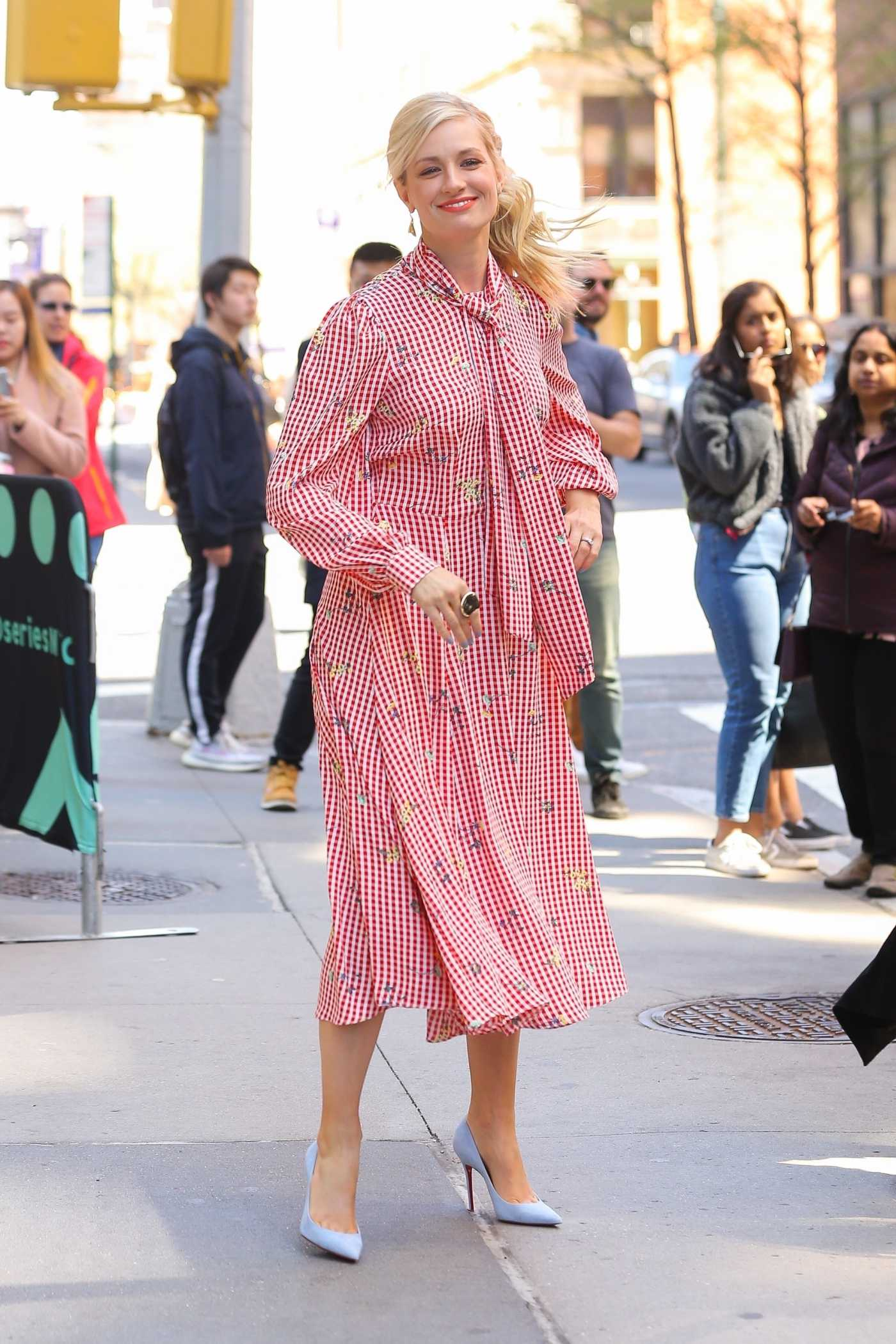 Beth Behrs Attends AOL Build Studio in New York City 04/17/2019