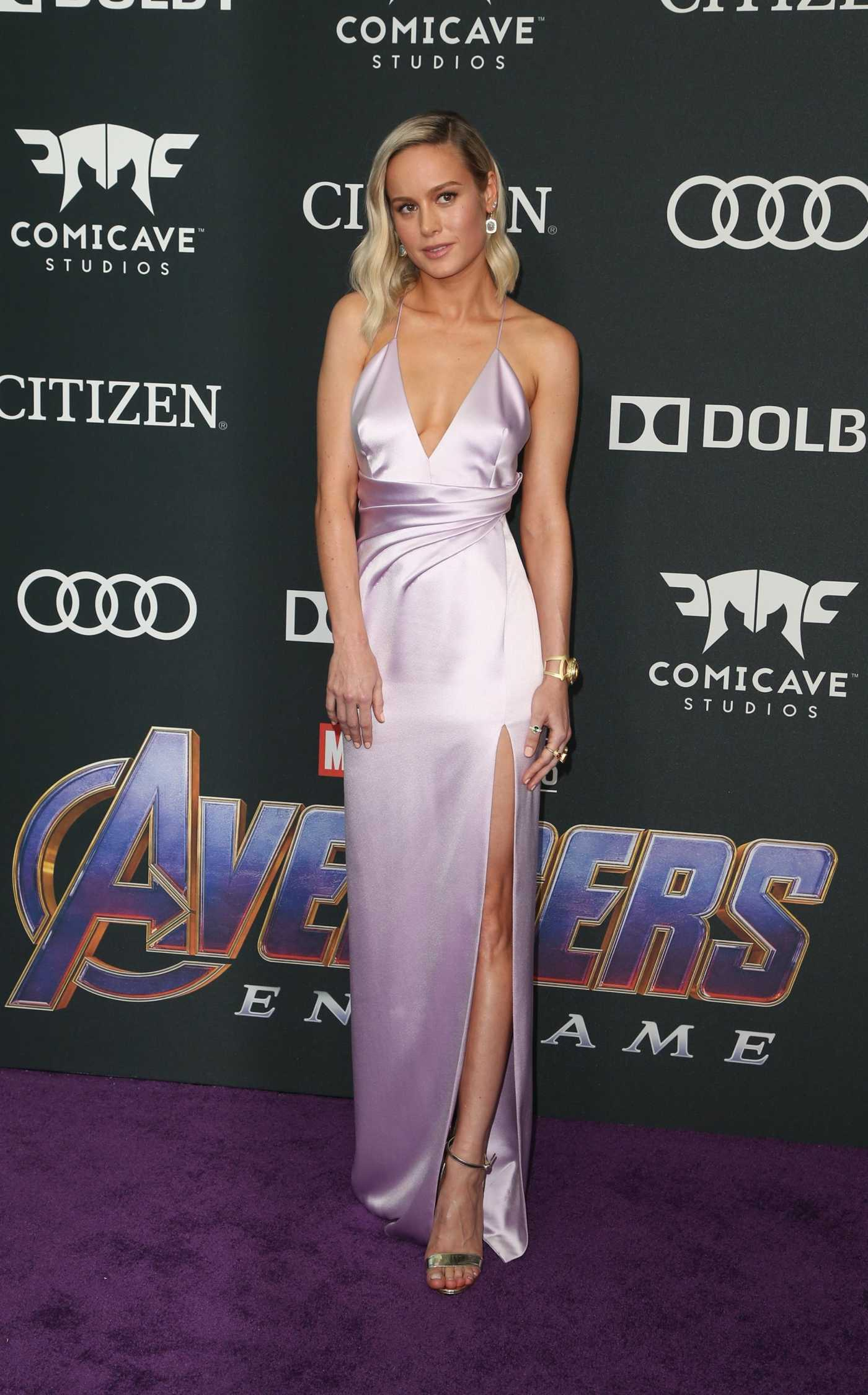Brie Larson Attends Avengers: Endgame Premiere in Los Angeles 04/22/2019