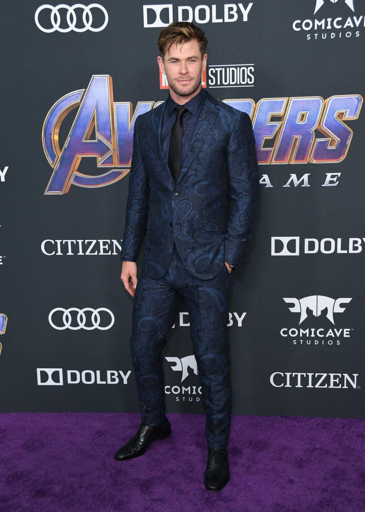 Chris Hemsworth Attends Avengers: Endgame Premiere in Los Angeles 04/22/2019