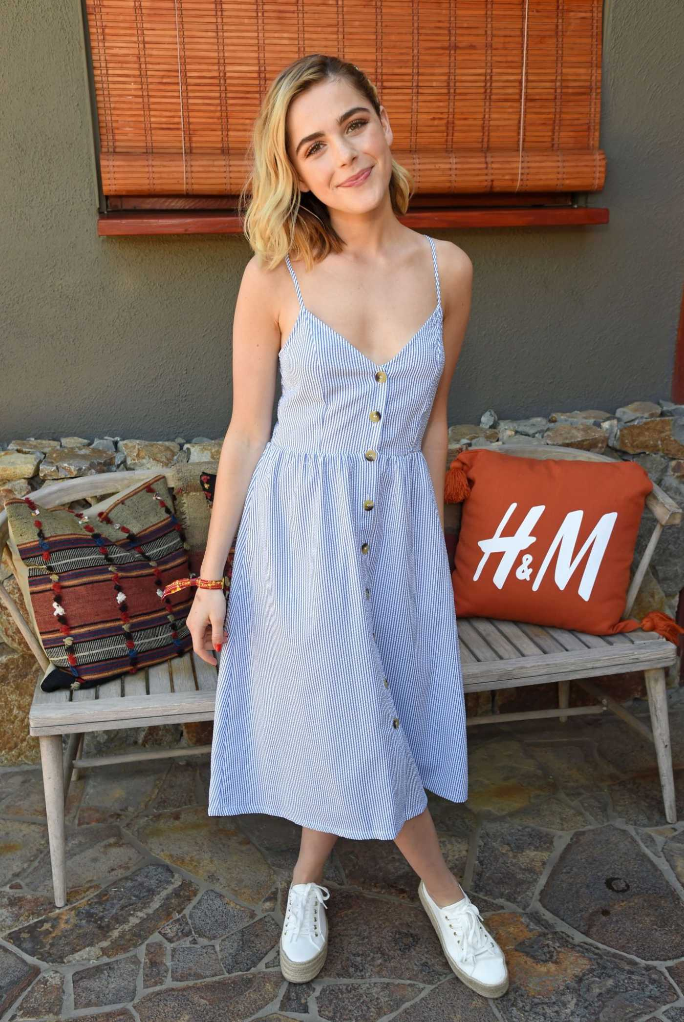 Kiernan Shipka Attends the Poolside with H&M in Palm Springs 04/13/2019