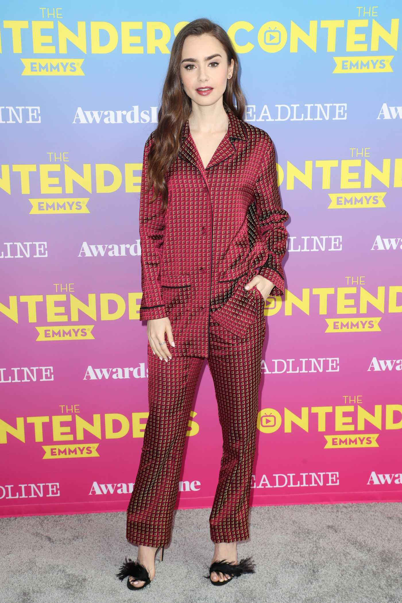 Lily Collins Attends Deadline Contenders Emmy Event at the Paramount Theatre in Los Angeles 04/07/2019