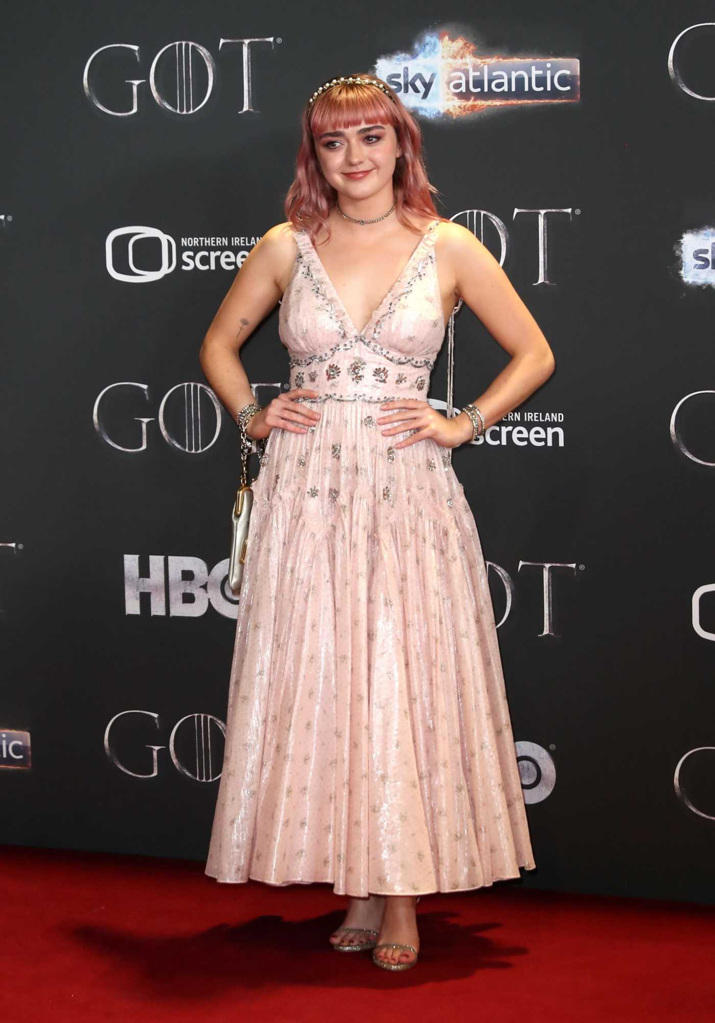 Maisie Williams Attends Game of Thrones Season 8 Premiere in Belfast 04/12/2019