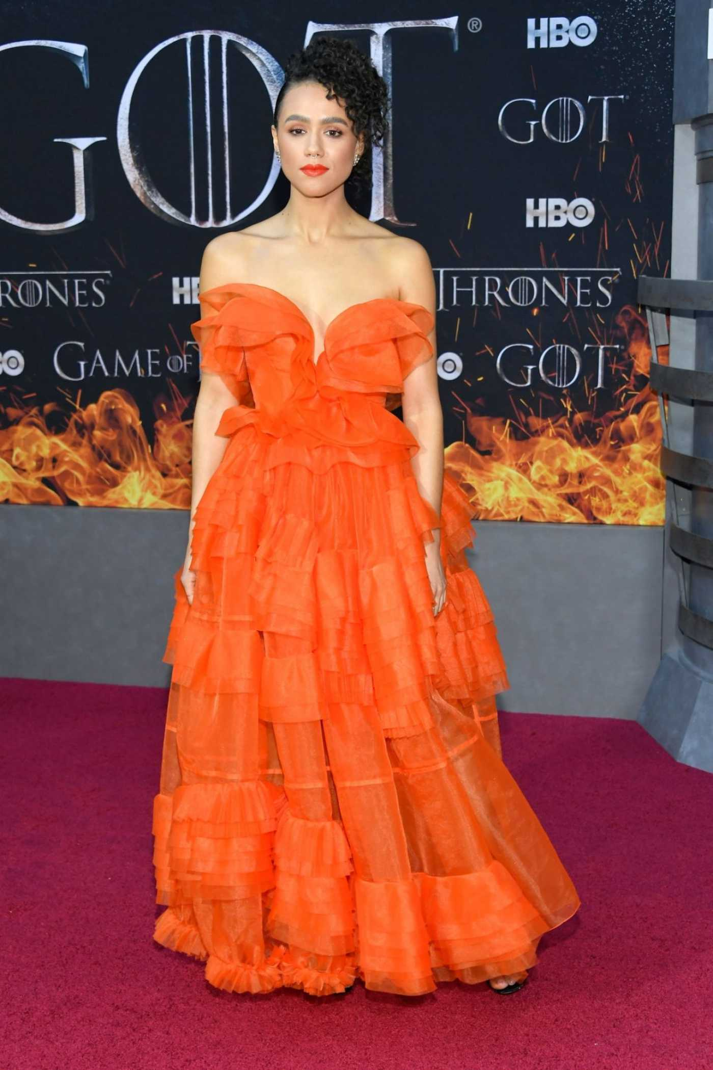 Nathalie Emmanuel Attends the Game of Thrones Season 8 Premiere in New York 04/03/2019