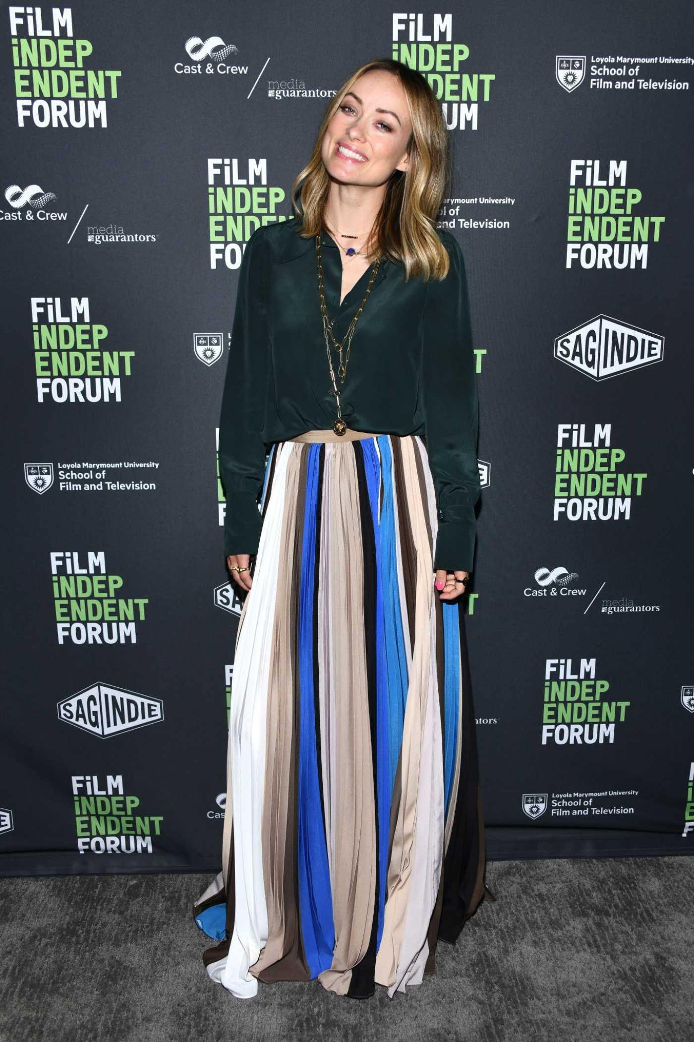 Olivia Wilde Attends Booksmart at the Film Independent Forum in Los Angeles 04/26/2019