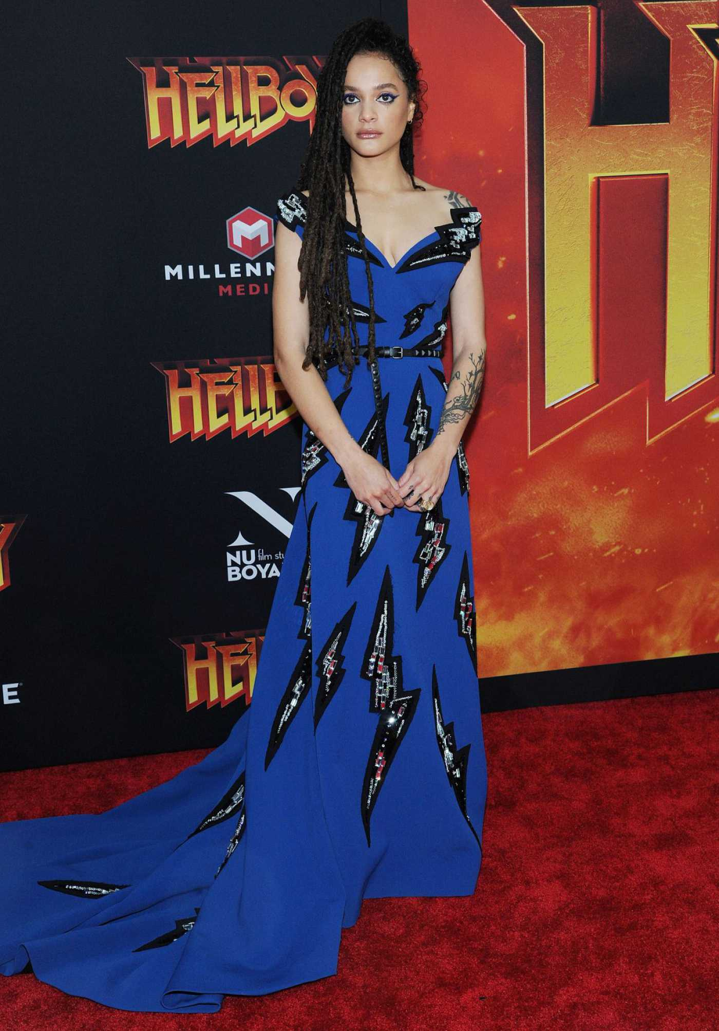 Sasha Lane Attends the Hellboy Premeire in New York 04/09/2019