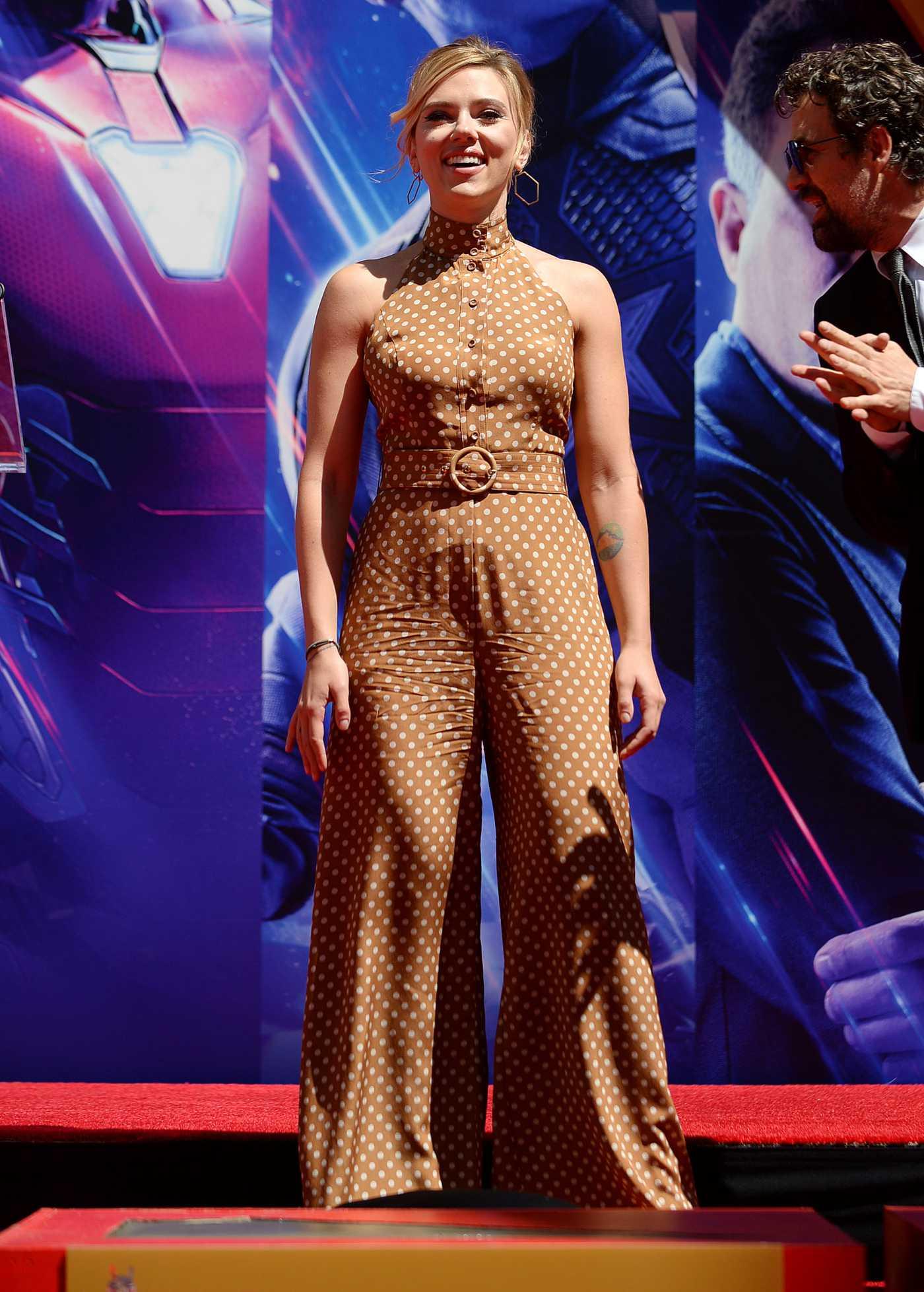 Scarlett Johansson Attends Avengers: Endgame Hand Print Ceremony in LA 04/23/2019