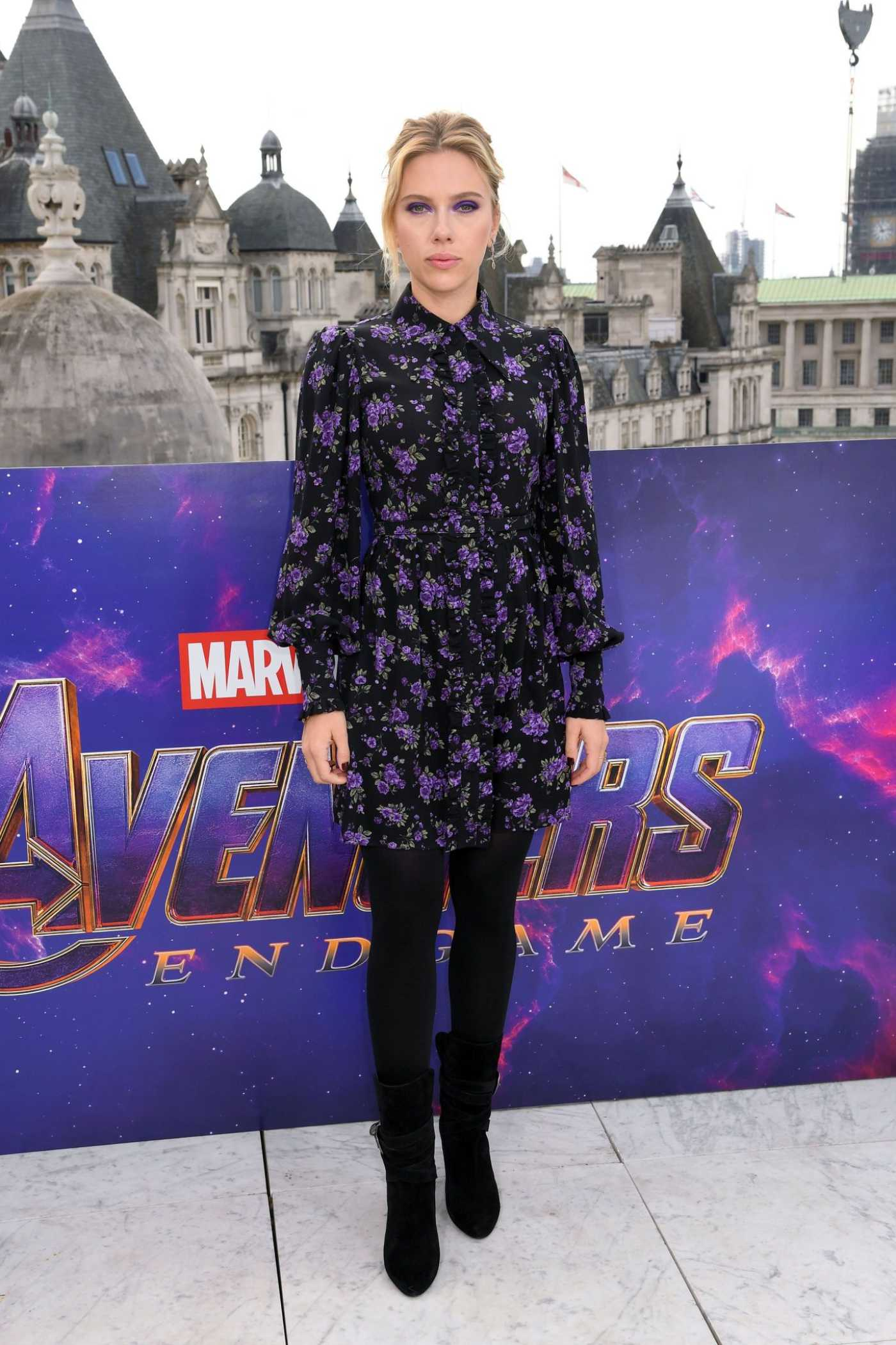 Scarlett Johansson Attends Avengers Endgame Photocall in London 04/11/2019
