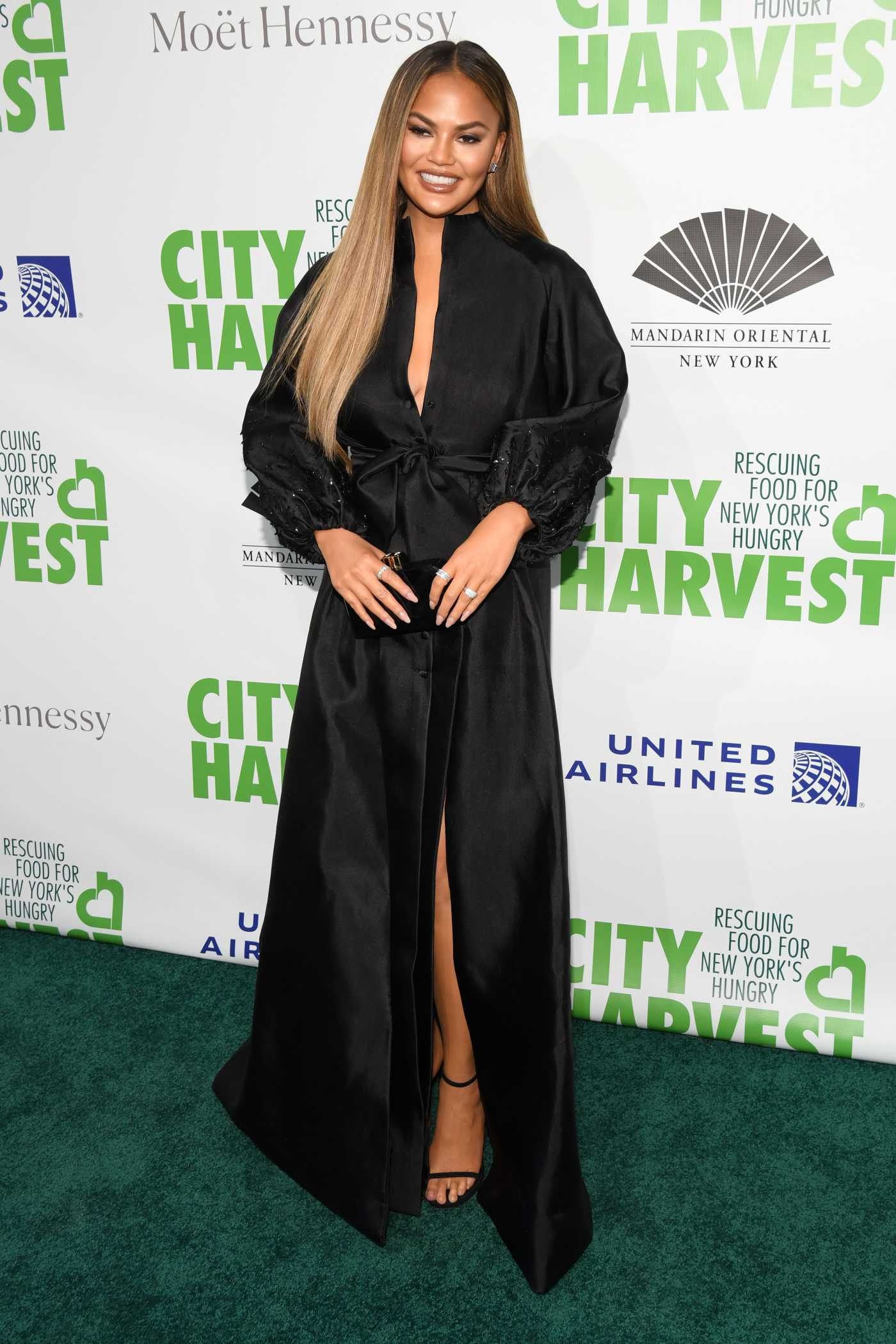 Chrissy Teigen Attends the 36th Annual City Harvest Gala in New York 04/30/2019