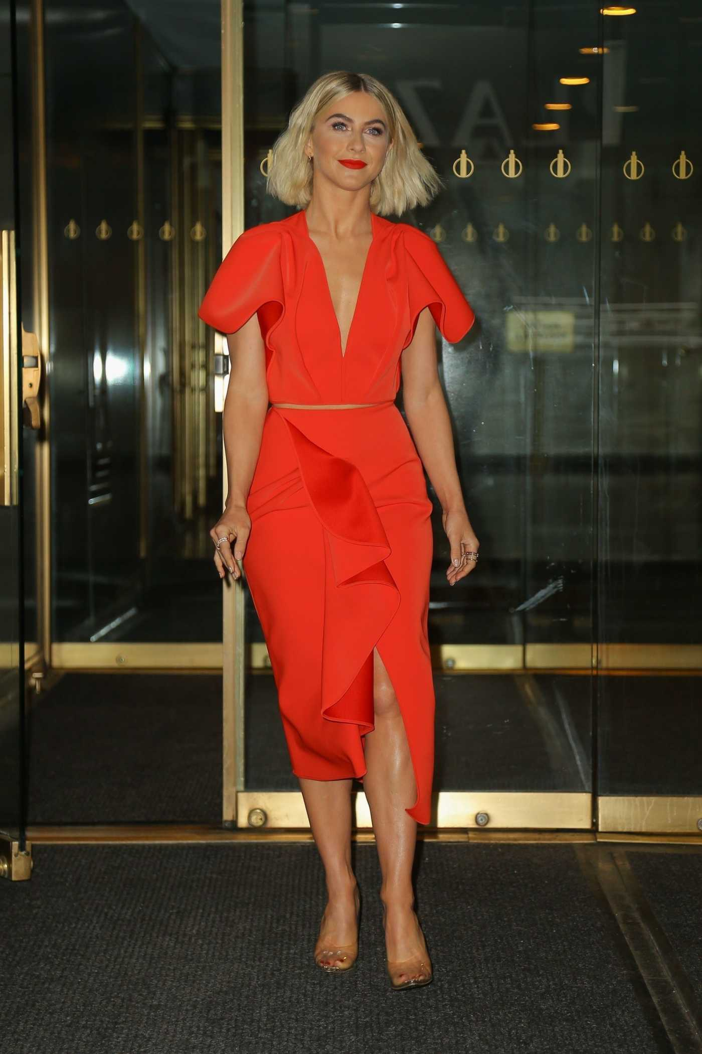 Julianne Hough in a Red Dress Was Seen Out in NYC 05/13/2019