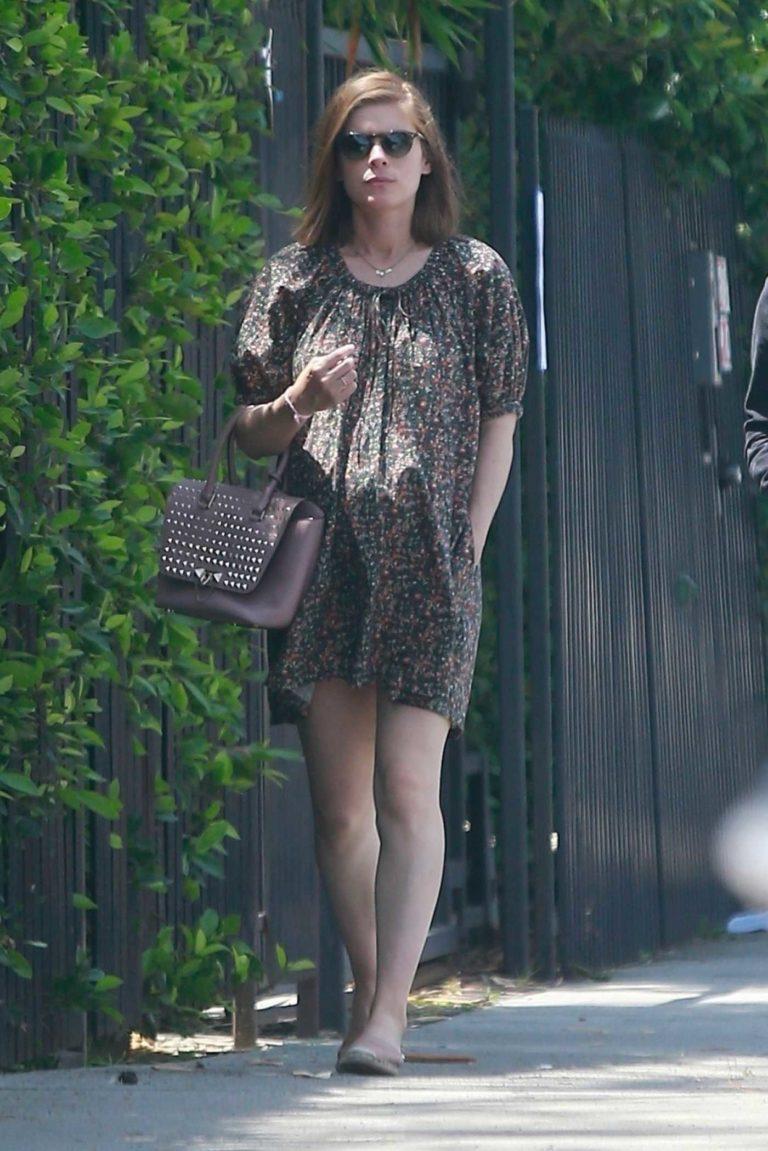 Kate Mara in a Short Floral Dress