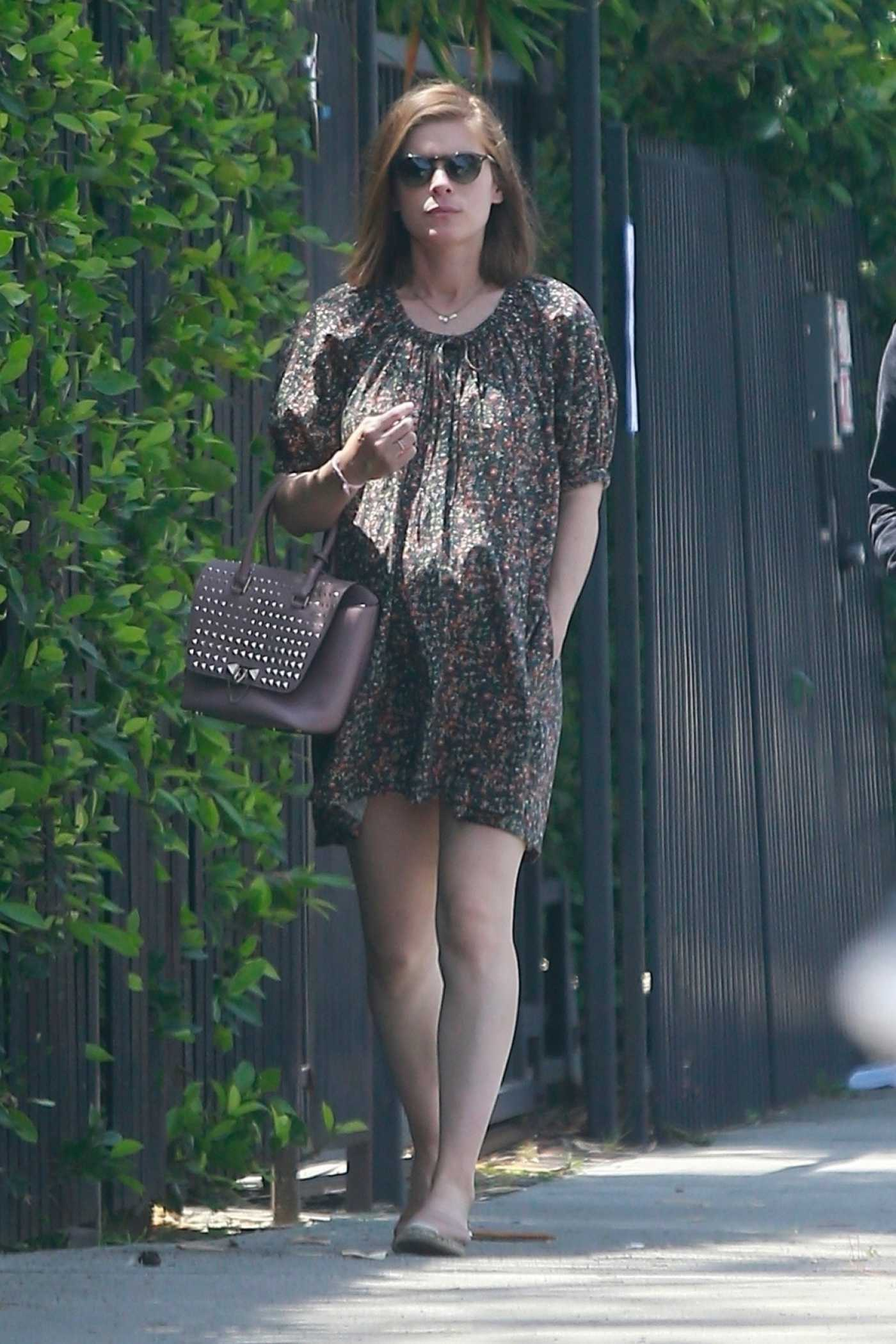 Kate Mara in a Short Floral Dress Was Seen Out with Her Husband in Los Feliz 05/04/2019
