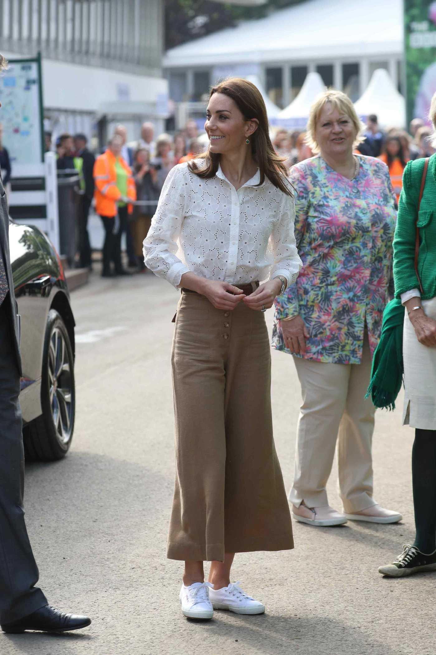 Kate Middleton Arrives at the RHS Chelsea Flower Show at the Royal Hospital Chelsea in London 05/20/2019