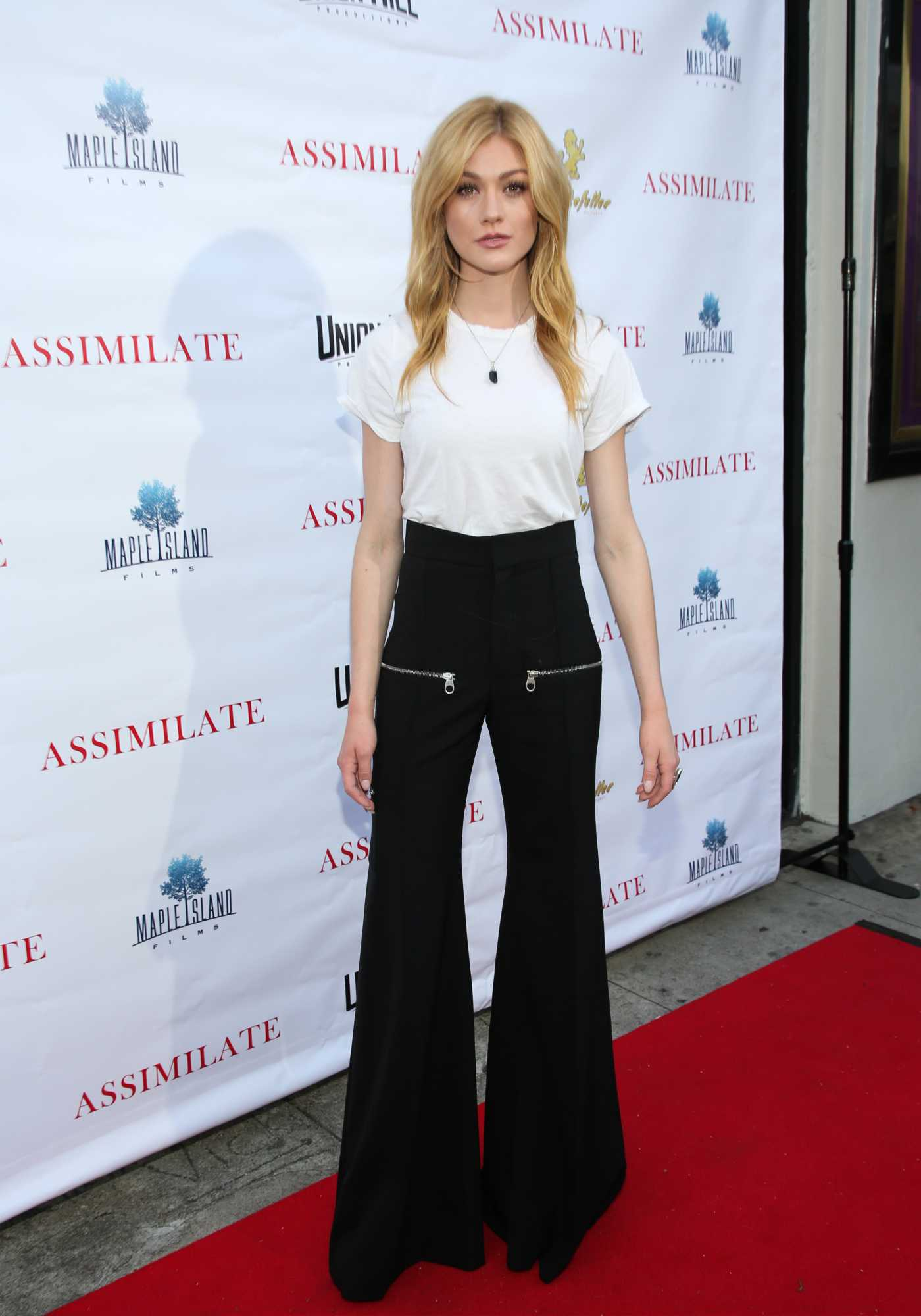 Katherine McNamara Attends the Assimilate Premiere at the Laemmle Music Hall in Beverly Hills 05/22/2019
