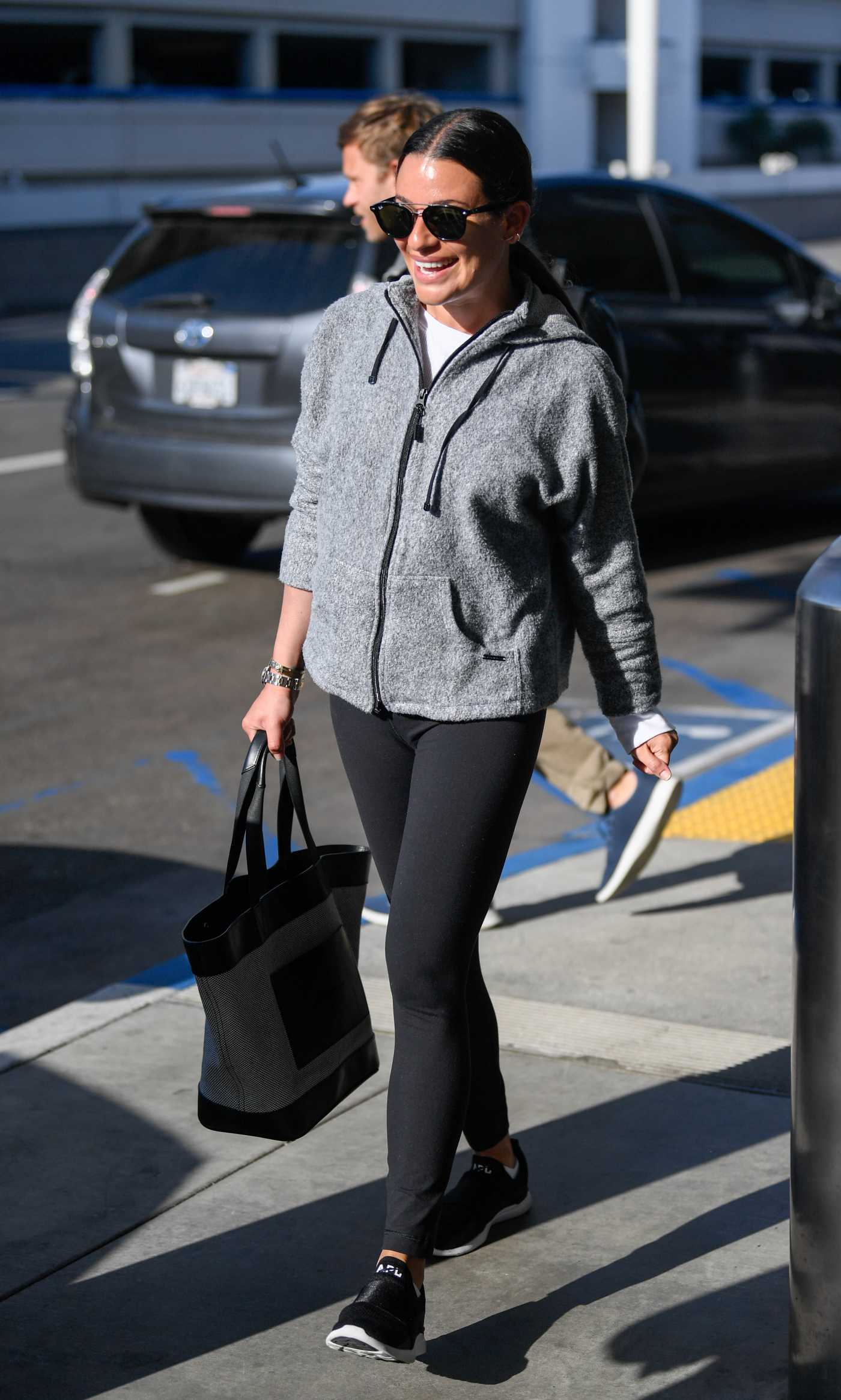 Lea Michele Out with Her Husband Zandy Reich Arrives at LAX Airport in LA 05/28/2019