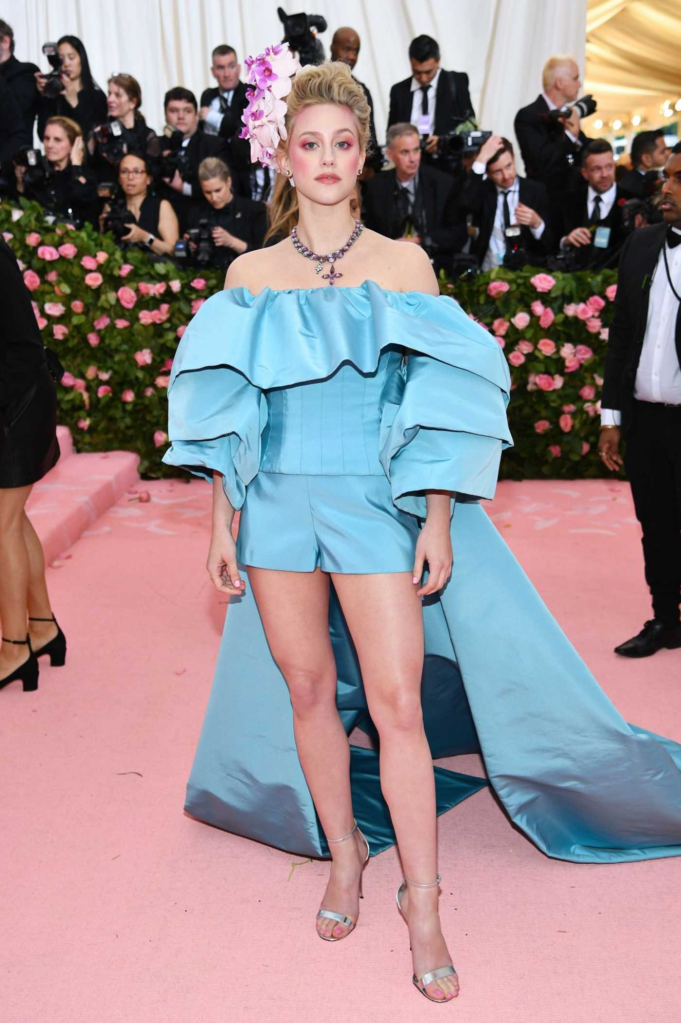 Lili Reinhart Attends the 2019 Met Gala Celebrating Camp: Notes on Fashion in NYC 05/06/2019