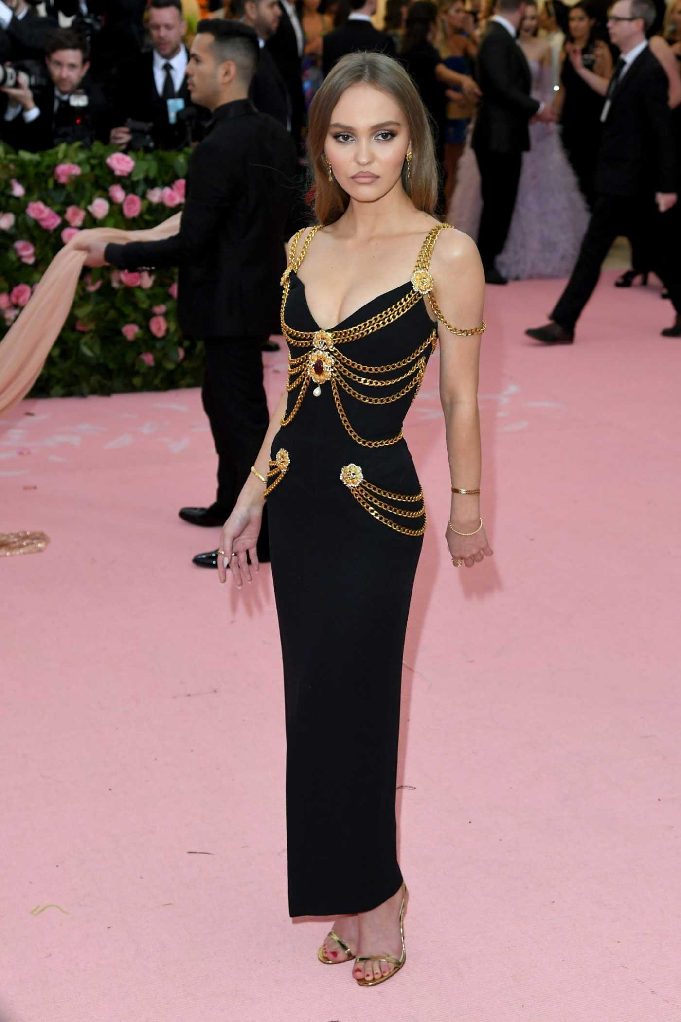 Lily Rose-Depp Attends the 2019 Met Gala Celebrating Camp: Notes on Fashion in NYC 05/06/2019