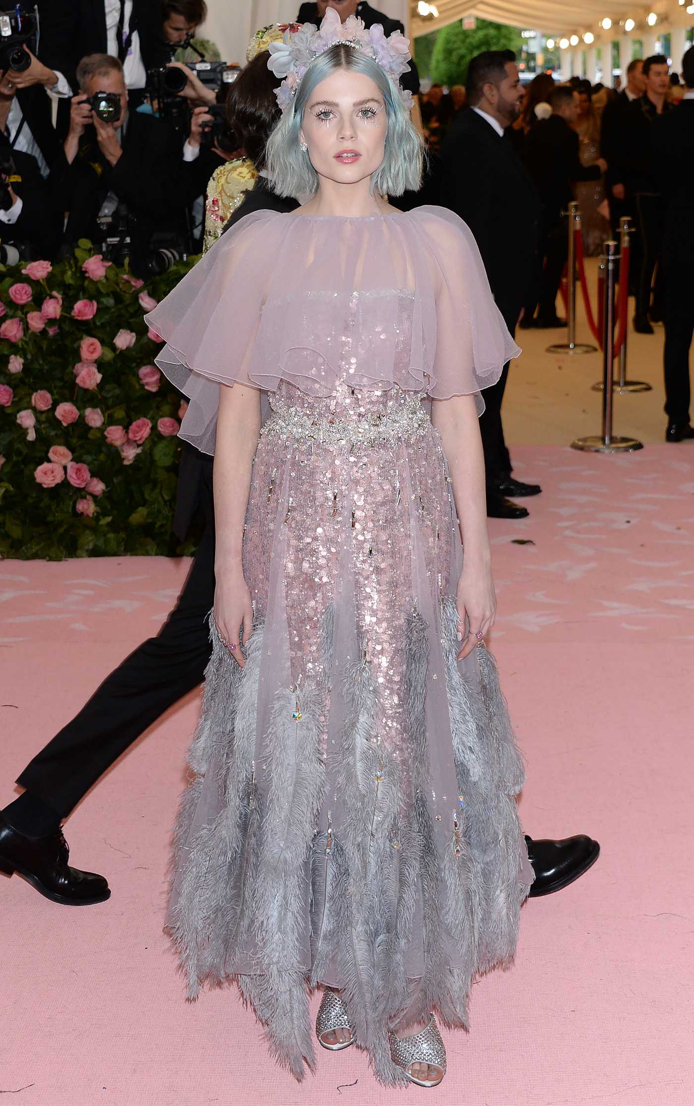 Lucy Boynton Attends the 2019 Met Gala Celebrating Camp: Notes on Fashion in NYC 05/06/2019